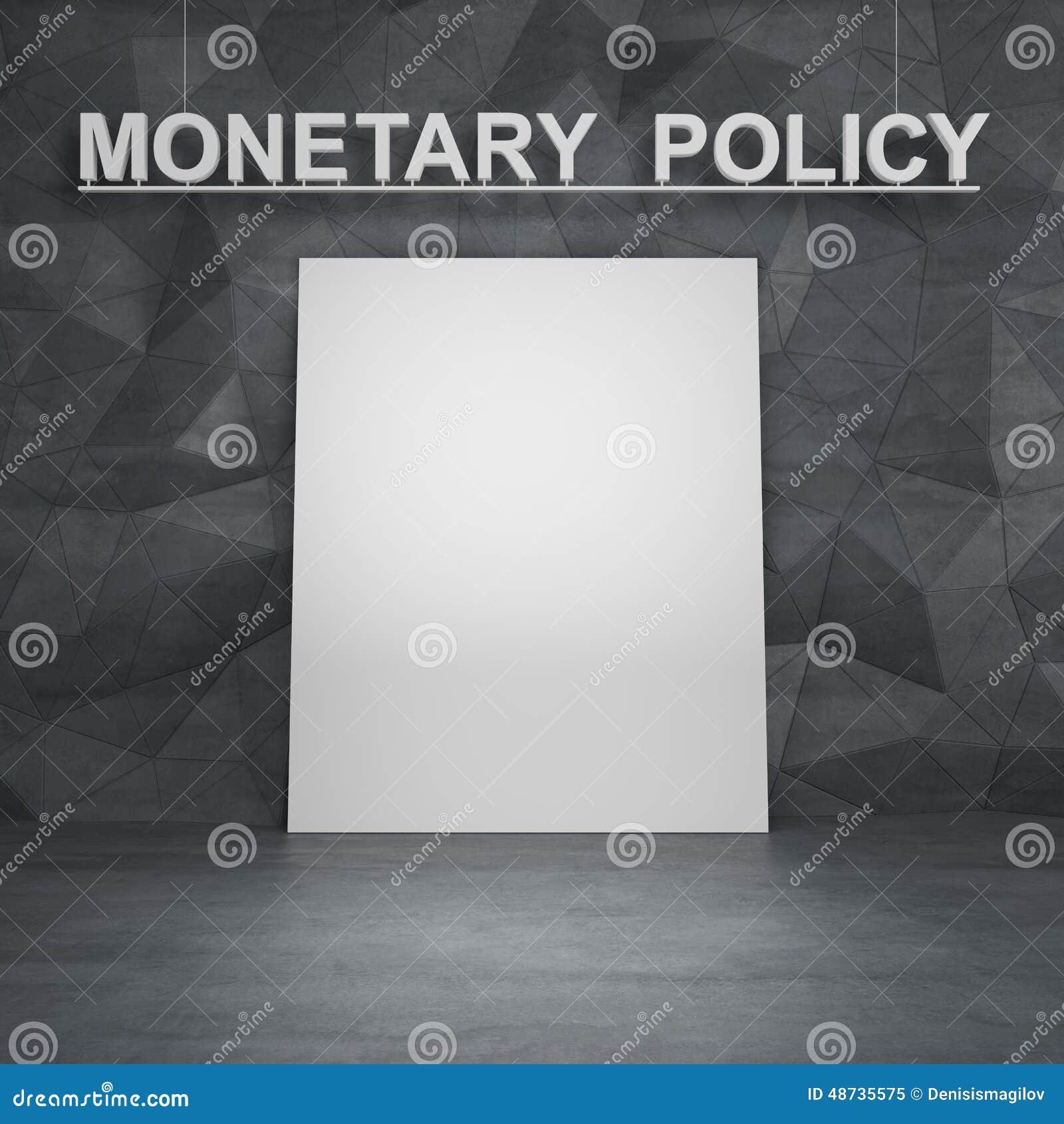 Affiche en monetair beleid