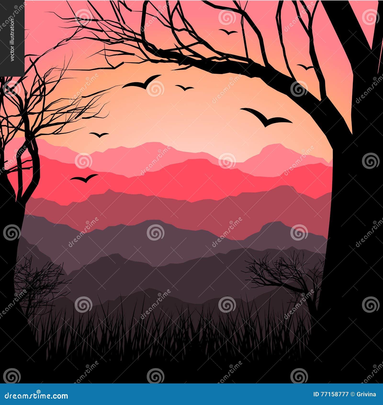 Affiche posée de paysage