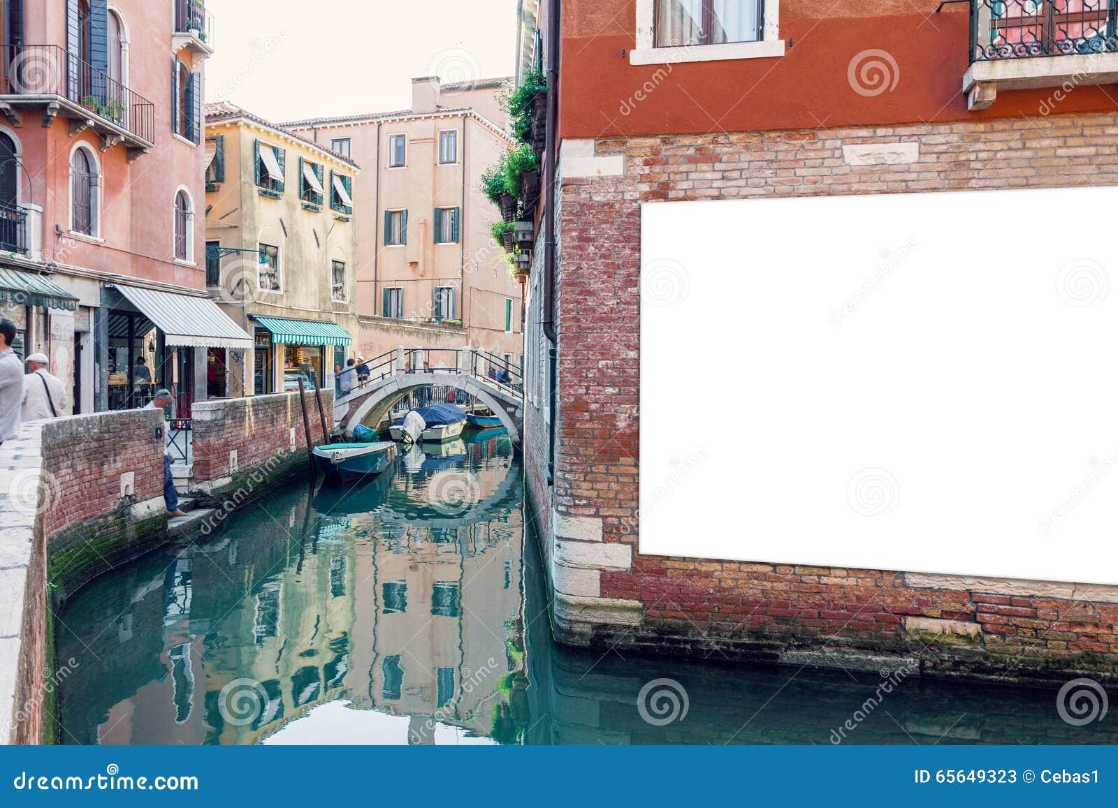 Affiche vide de la publicité à Venise