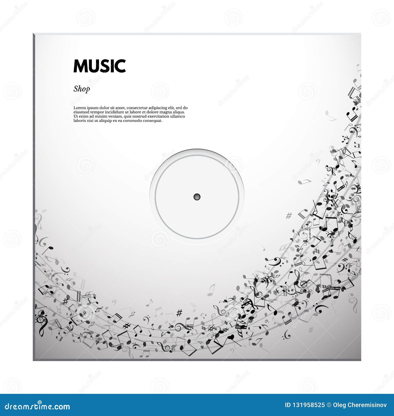 Affisch för musikfestival eller banermall Text för vektorklassisk musikfestival på notsystembakgrund