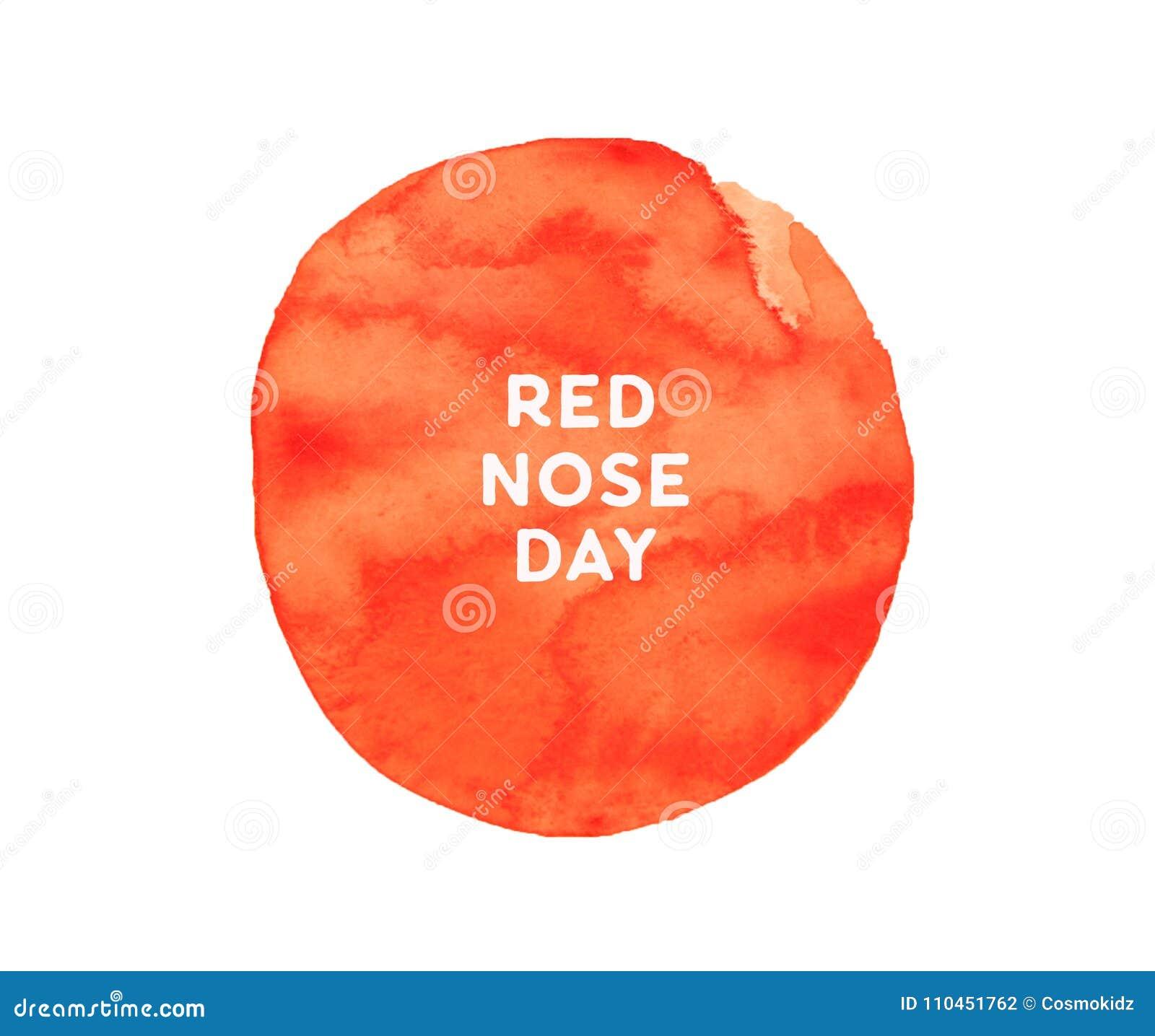 Affisch för vattenfärg för röd näsdag borstlik, cirkelsammansättning, fyrkantigt format