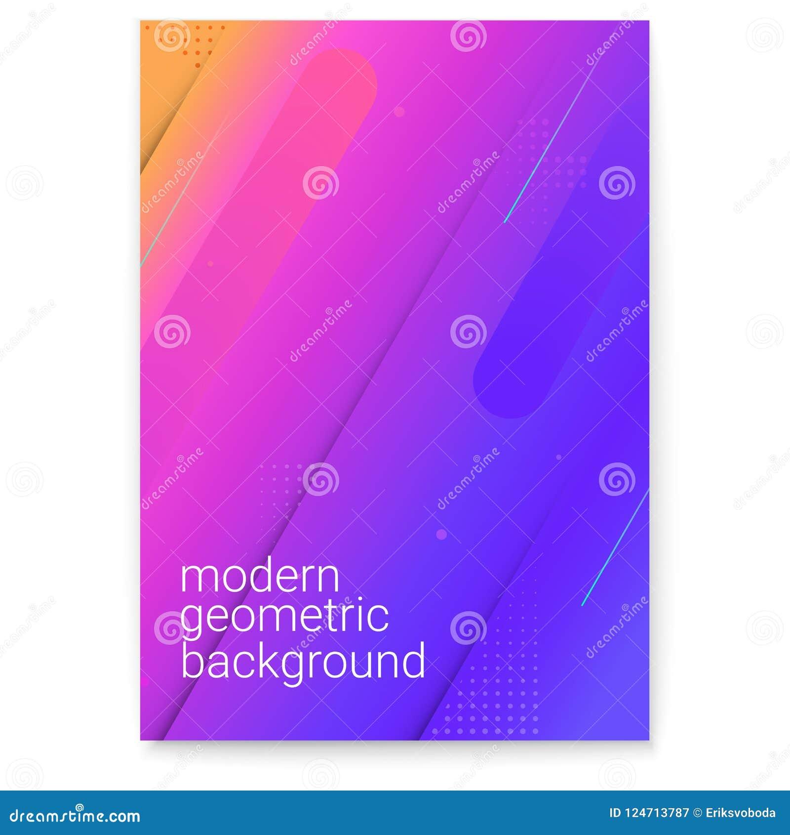 Affisch med modern lutning och minimalistic diagram Begrepp av räkningen med dynamiska former Vektorbakgrund för