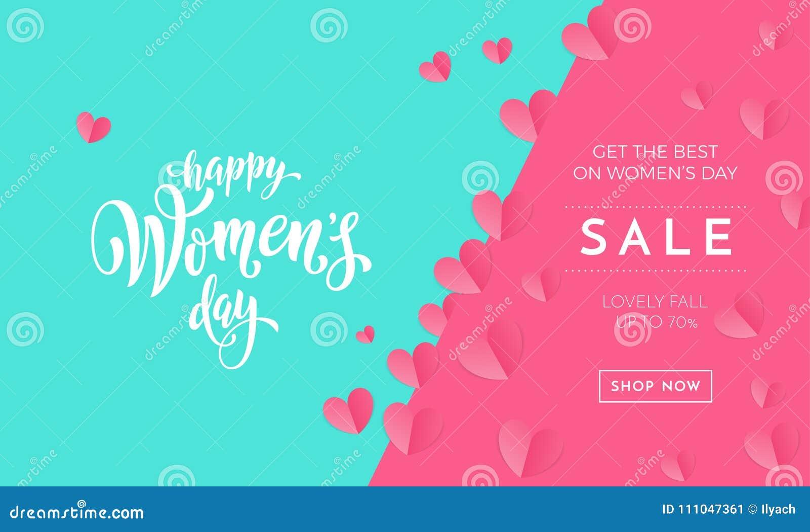 Affischen eller banret för försäljning för dag för kvinna` s för ferie för dag för moder` s shoppar säsongsbetonat rabatterbjudan