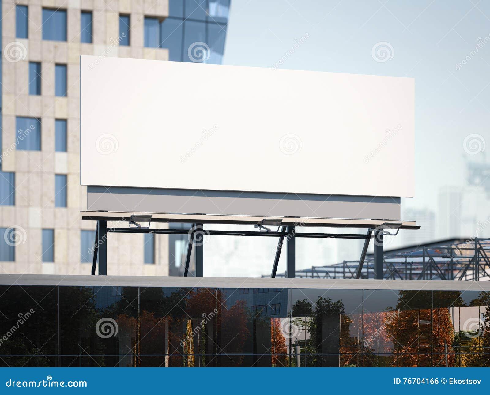 Affischtavlaanseende på en kontorsbyggnad framförande 3d