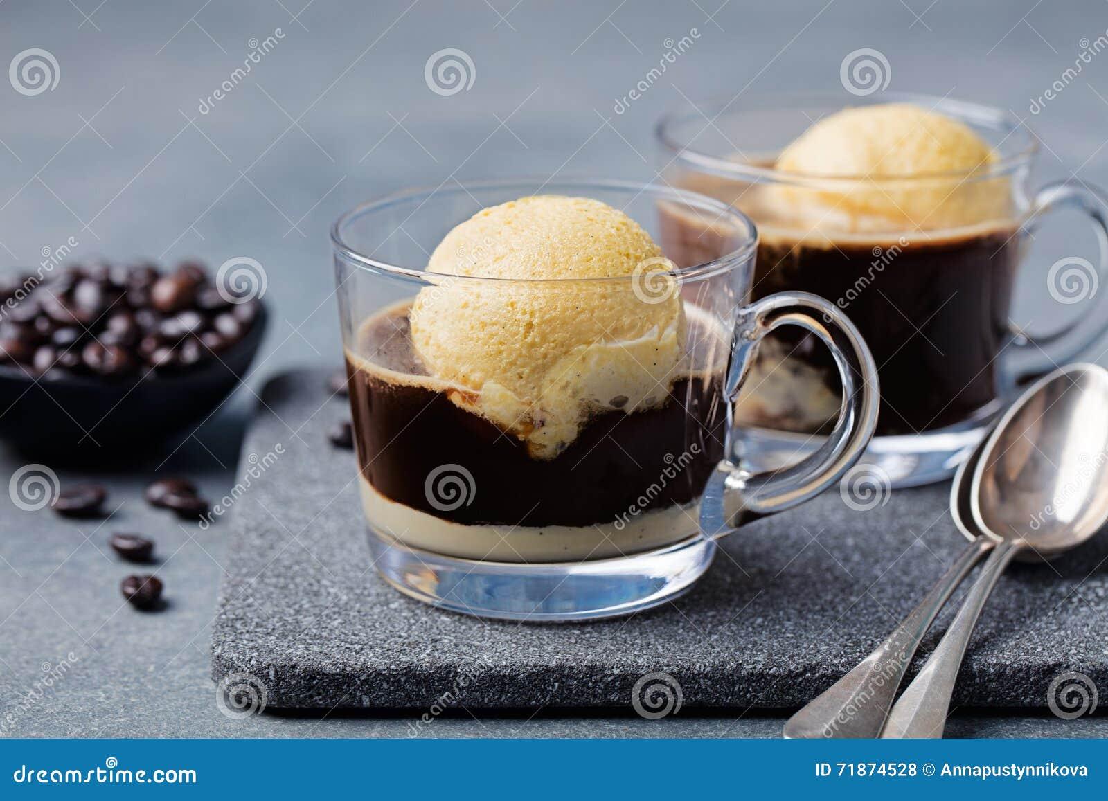 kaffe med glass