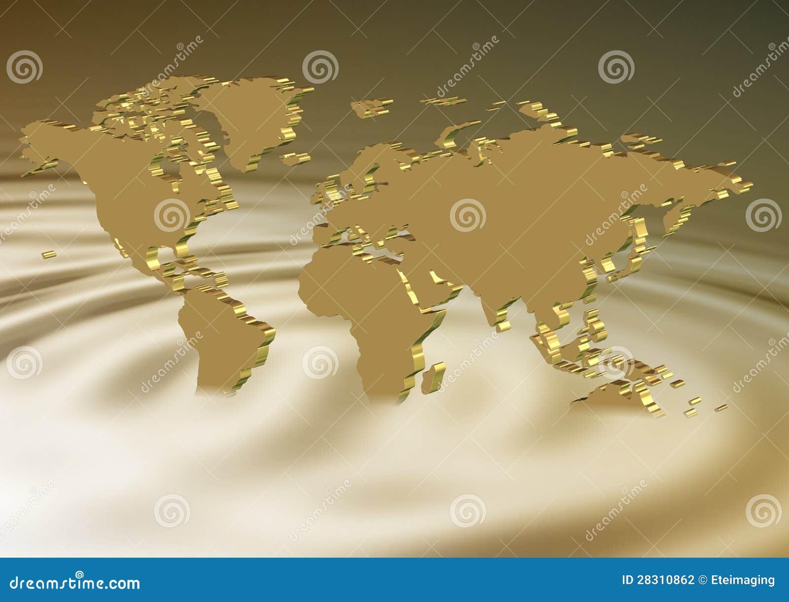 Affondamento dorato della terra