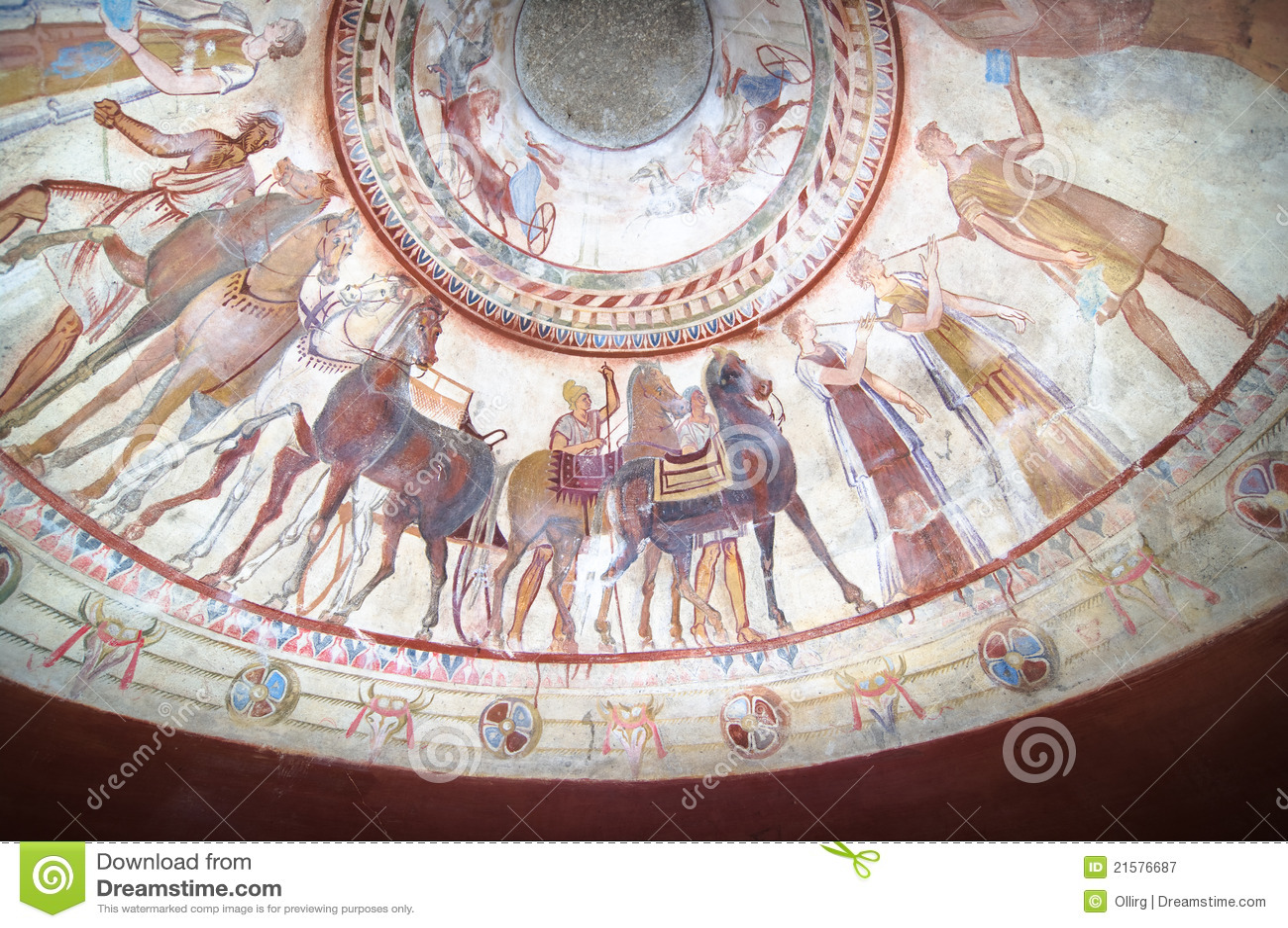 Affreschi in tomba del re di Thracian