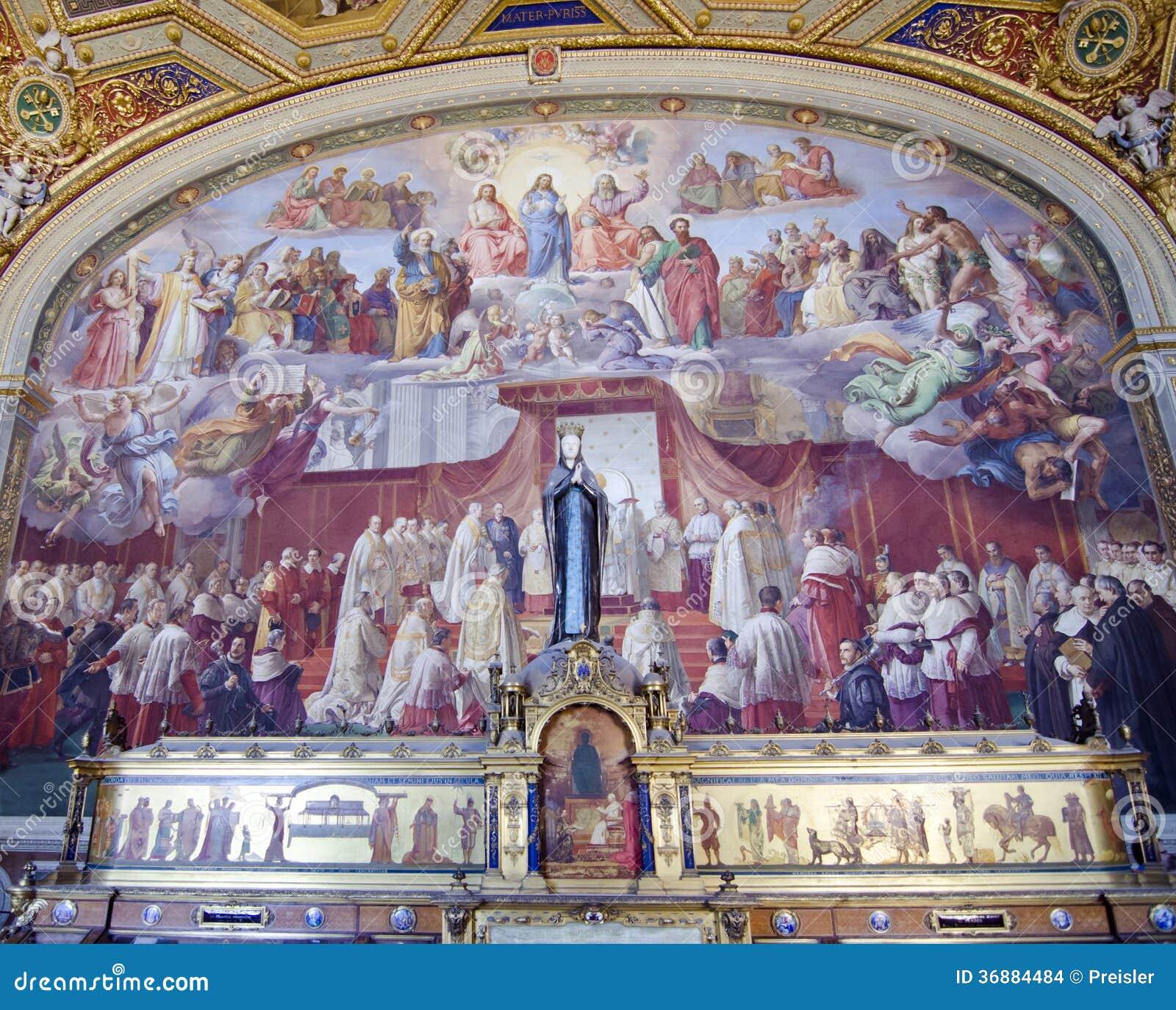 Download Affresco Dei Musei Del Vaticano - Immacolata Concezione Immagine Stock Editoriale - Immagine di immaculate, italiano: 36884484