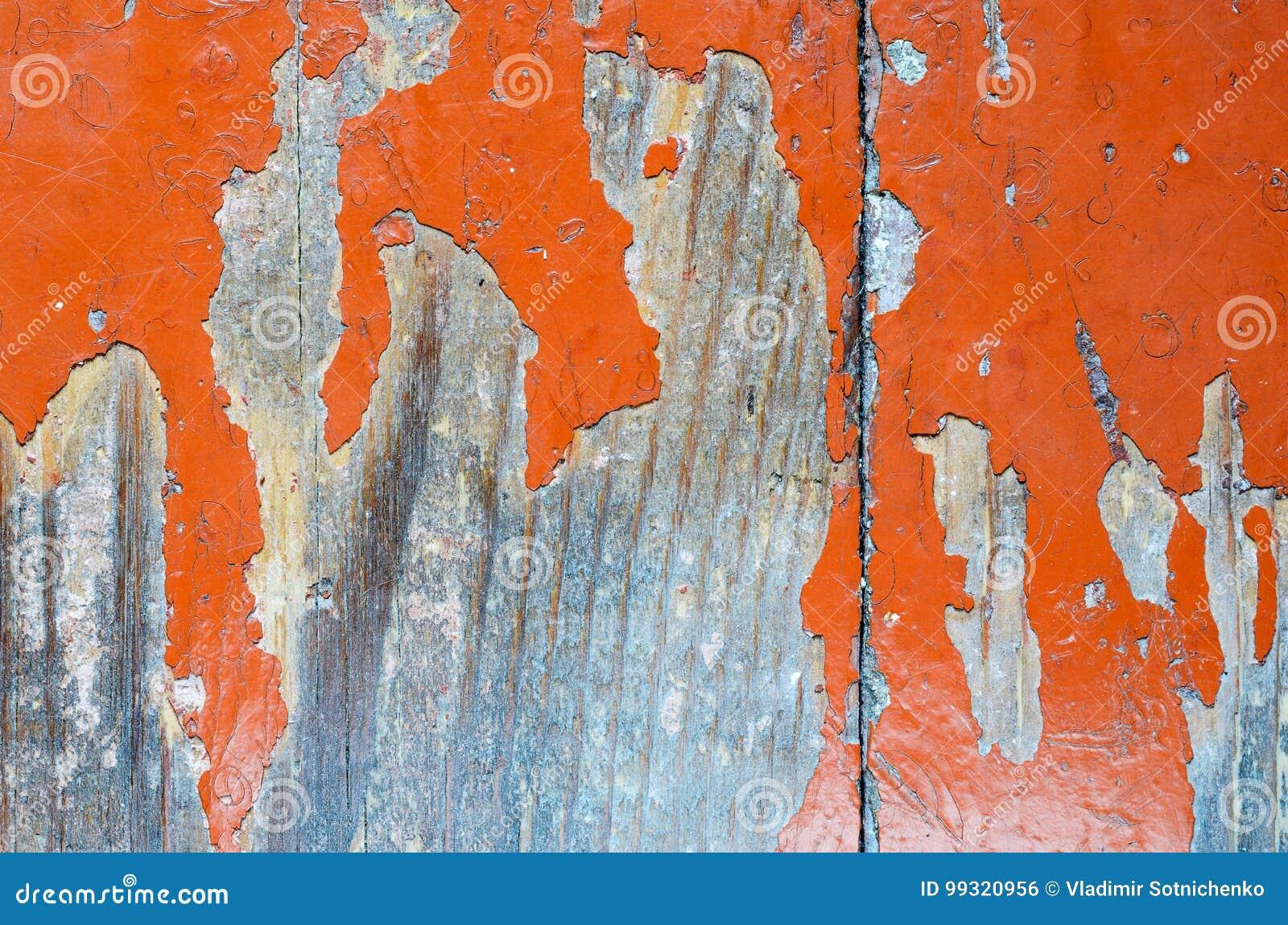 Verf Houten Vloer : Afgebladderde verf op een oude houten vloer stock foto afbeelding