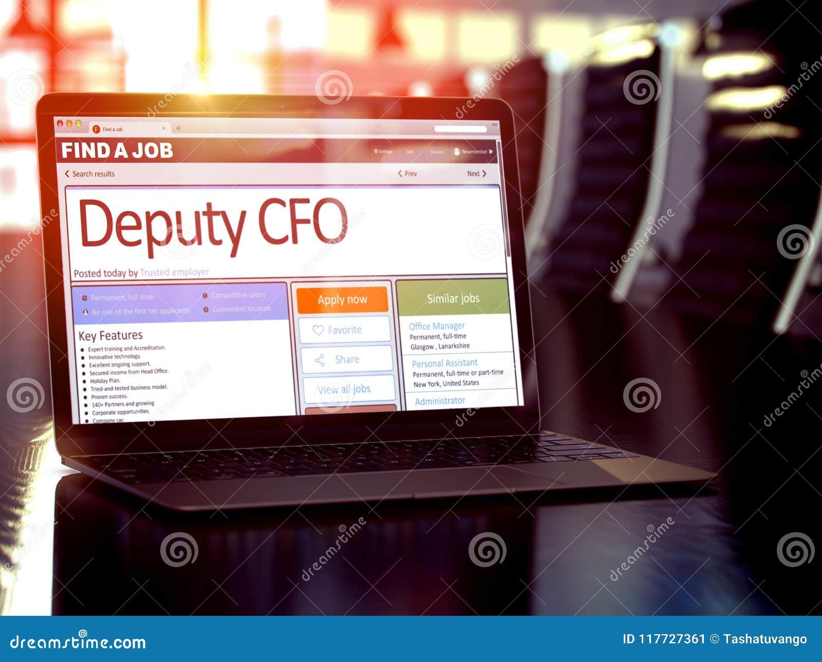 Afgevaardigde CFO Wanted 3d