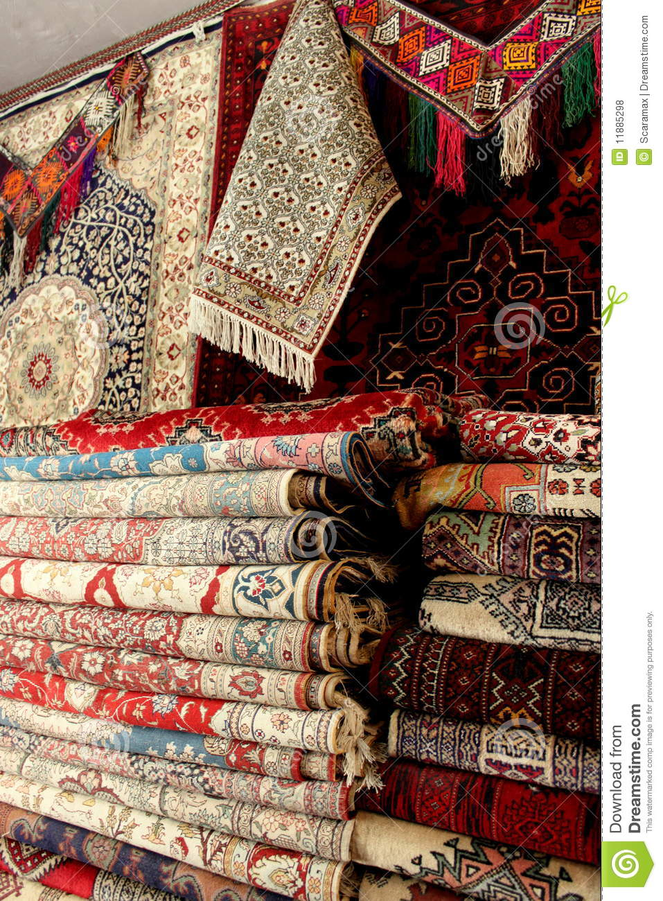 Afghan Carpets Stock Photo Image Of Cotton Trader