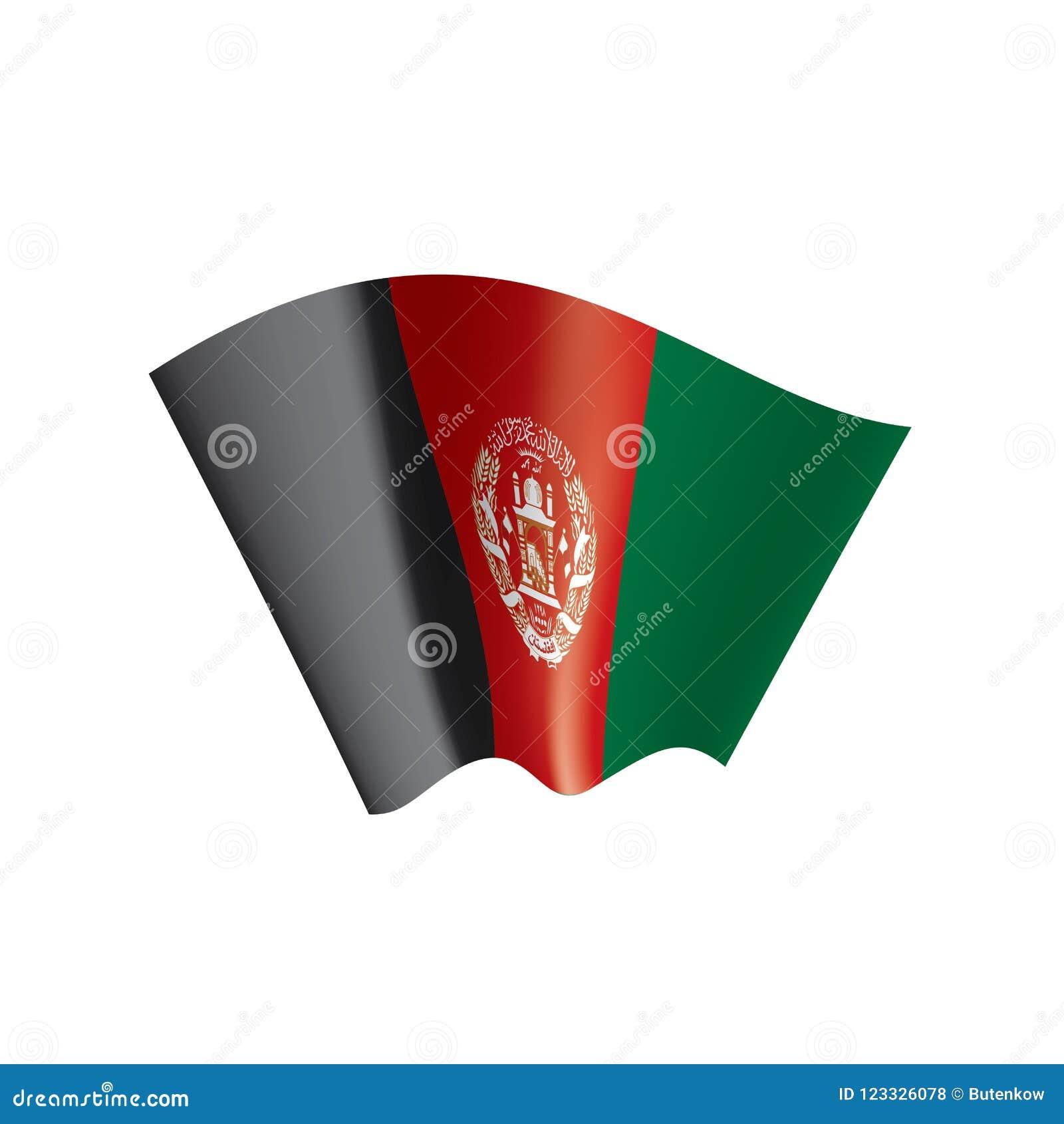 Afghanistan Flag, Vector Illustration On A White Background Stock
