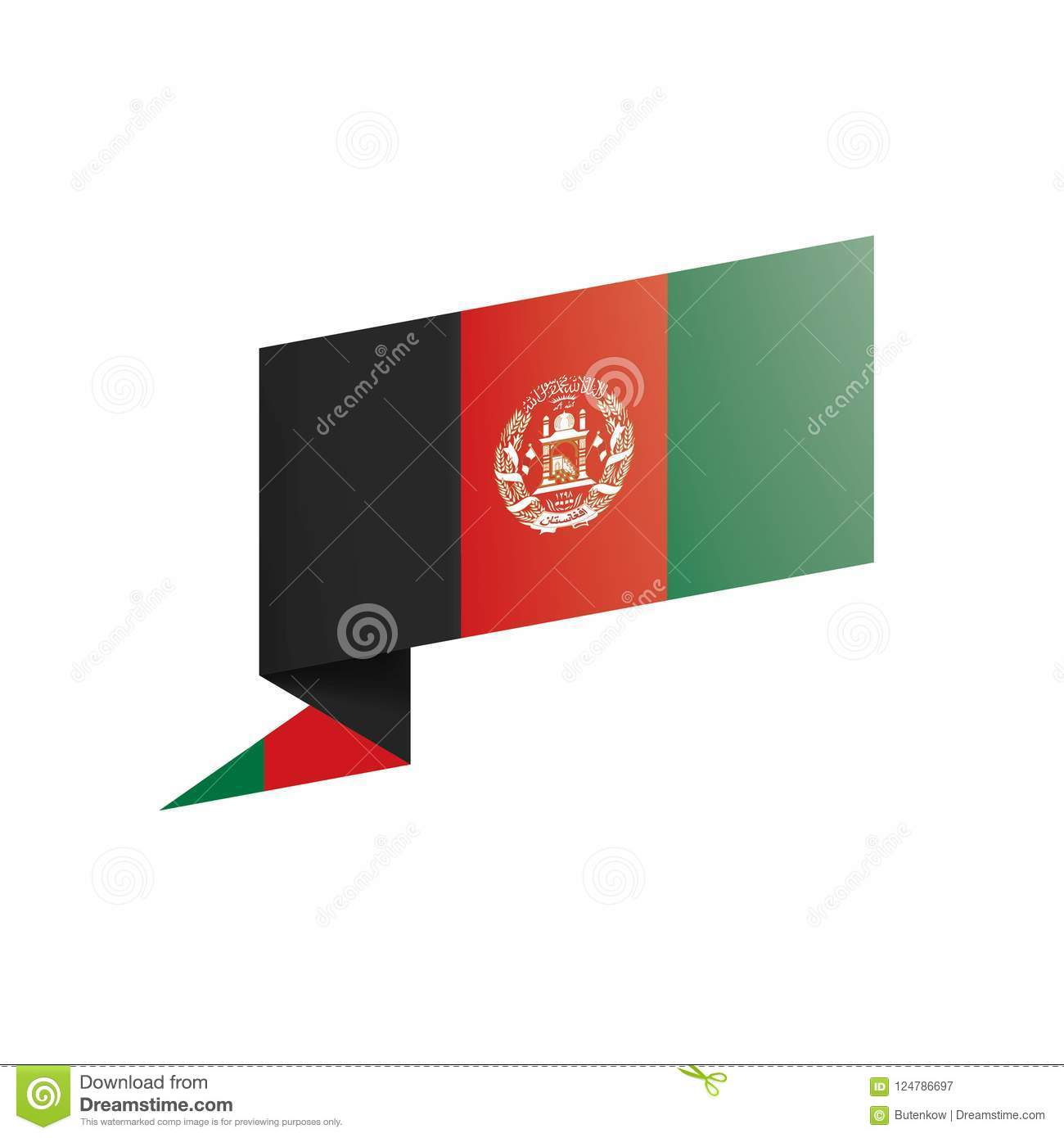 Afghanistan Flag, Vector Illustration On A White Background Stock