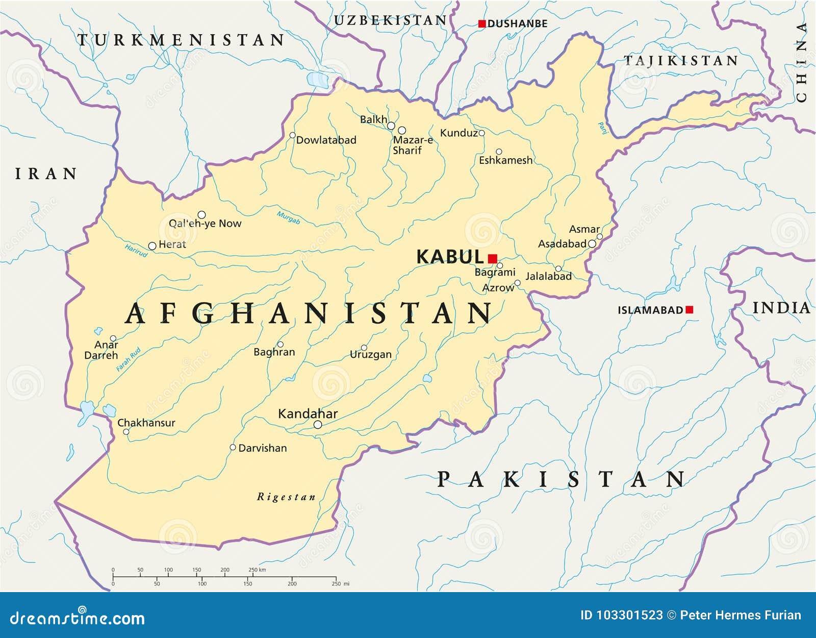 Karte Afghanistan Provinzen.Afghanistan Politische Karte Vektor Abbildung Illustration