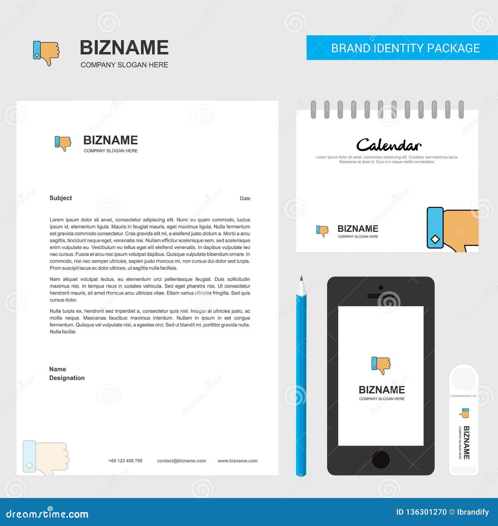 Afkeer Bedrijfsbriefhoofd, Kalender 2019 en het vectormalplaatje van het Mobiele toepassingontwerp
