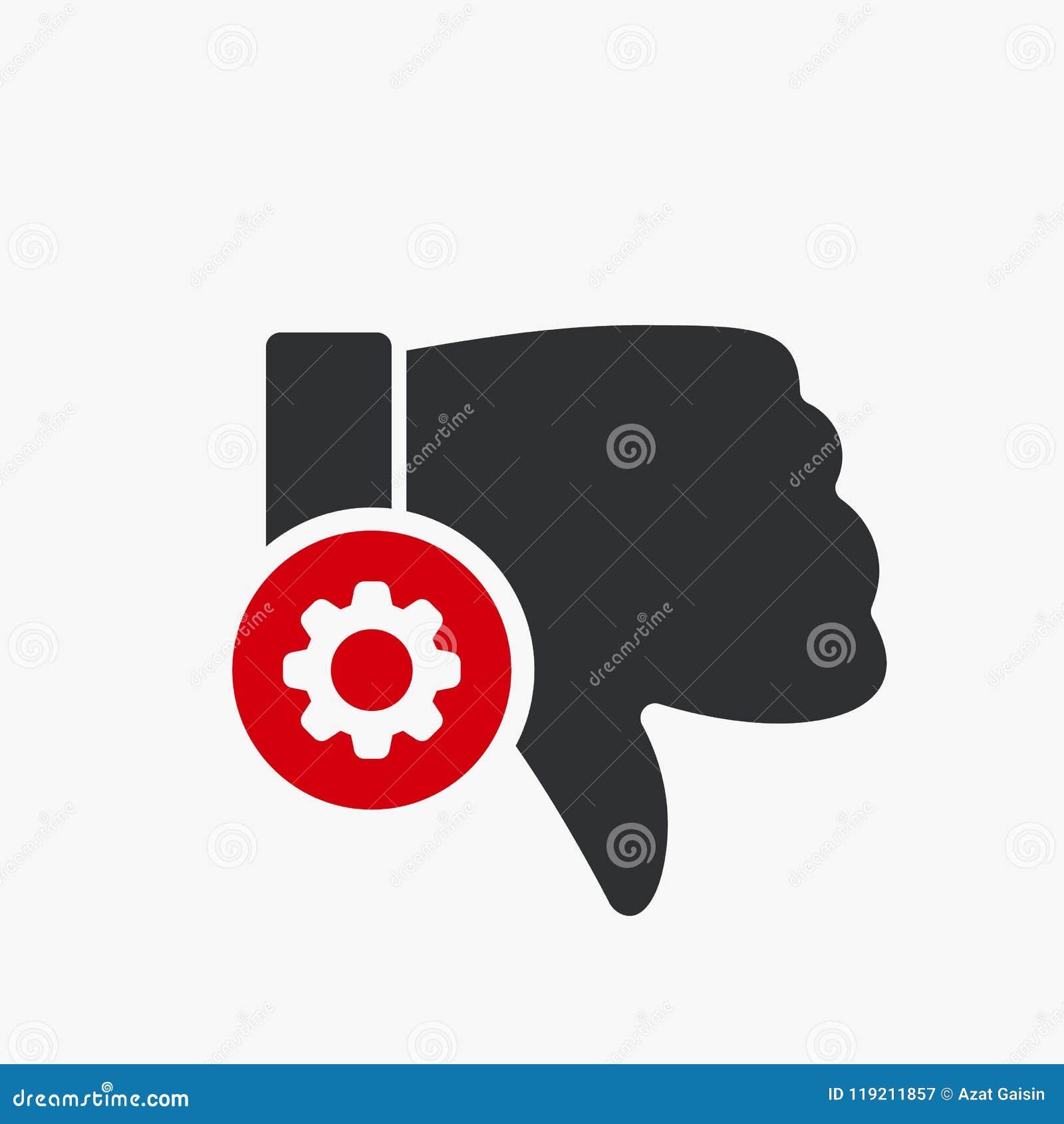 Afkeerpictogram, gebarenpictogram met montagesteken Het afkeerpictogram en past, opstelling, leidt, verwerkt symbool aan
