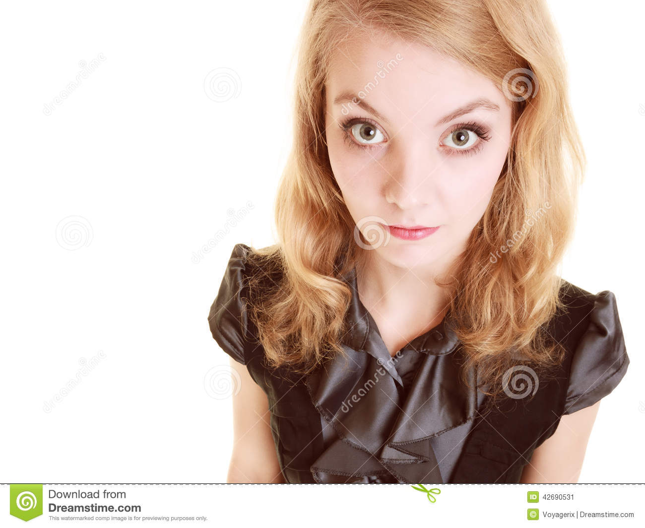 afraid businessw shy w first day in new job stock photo afraid businessw shy w first day in new job