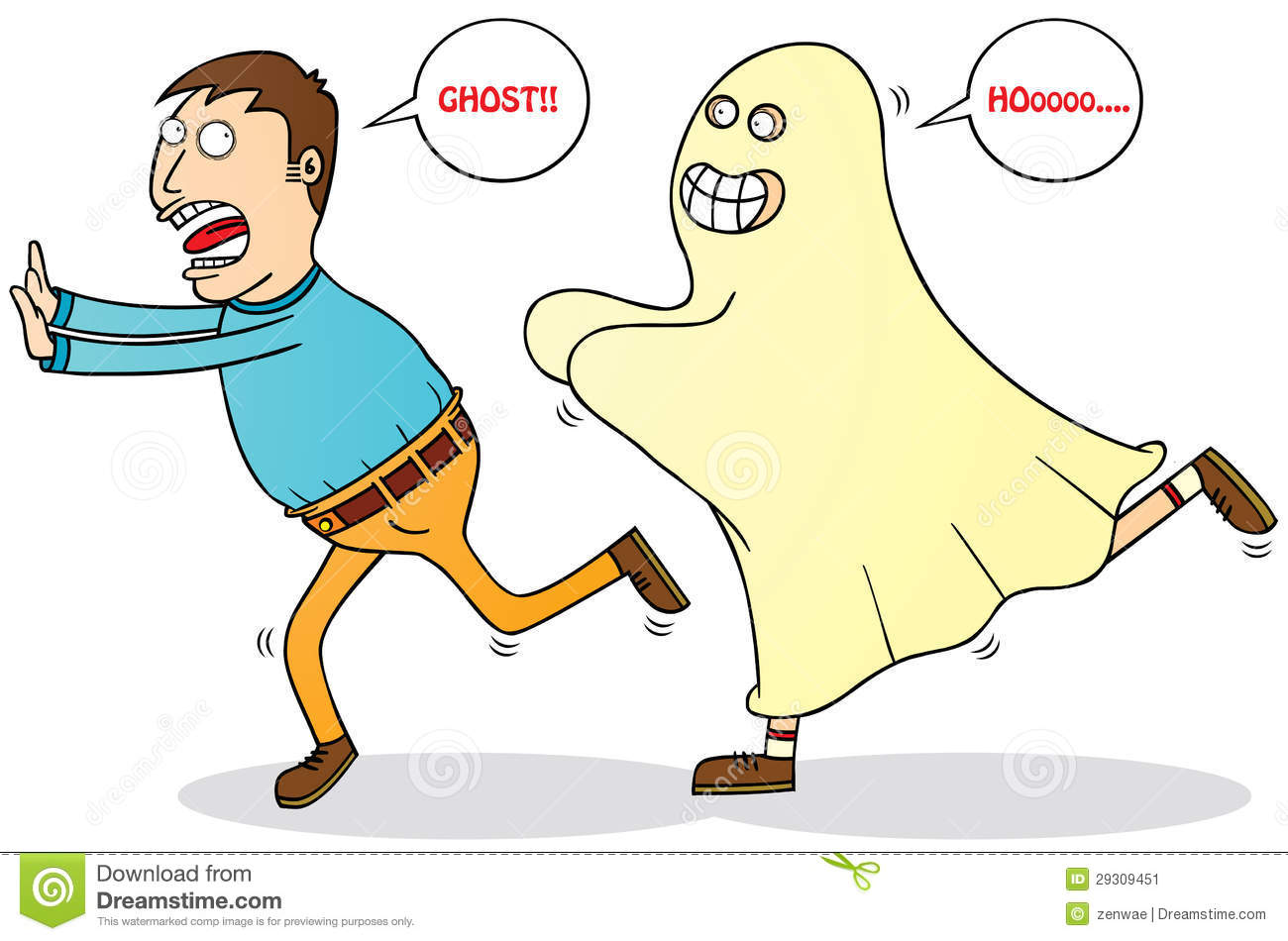 Afraid Of Ghost Stock Image Image 29309451