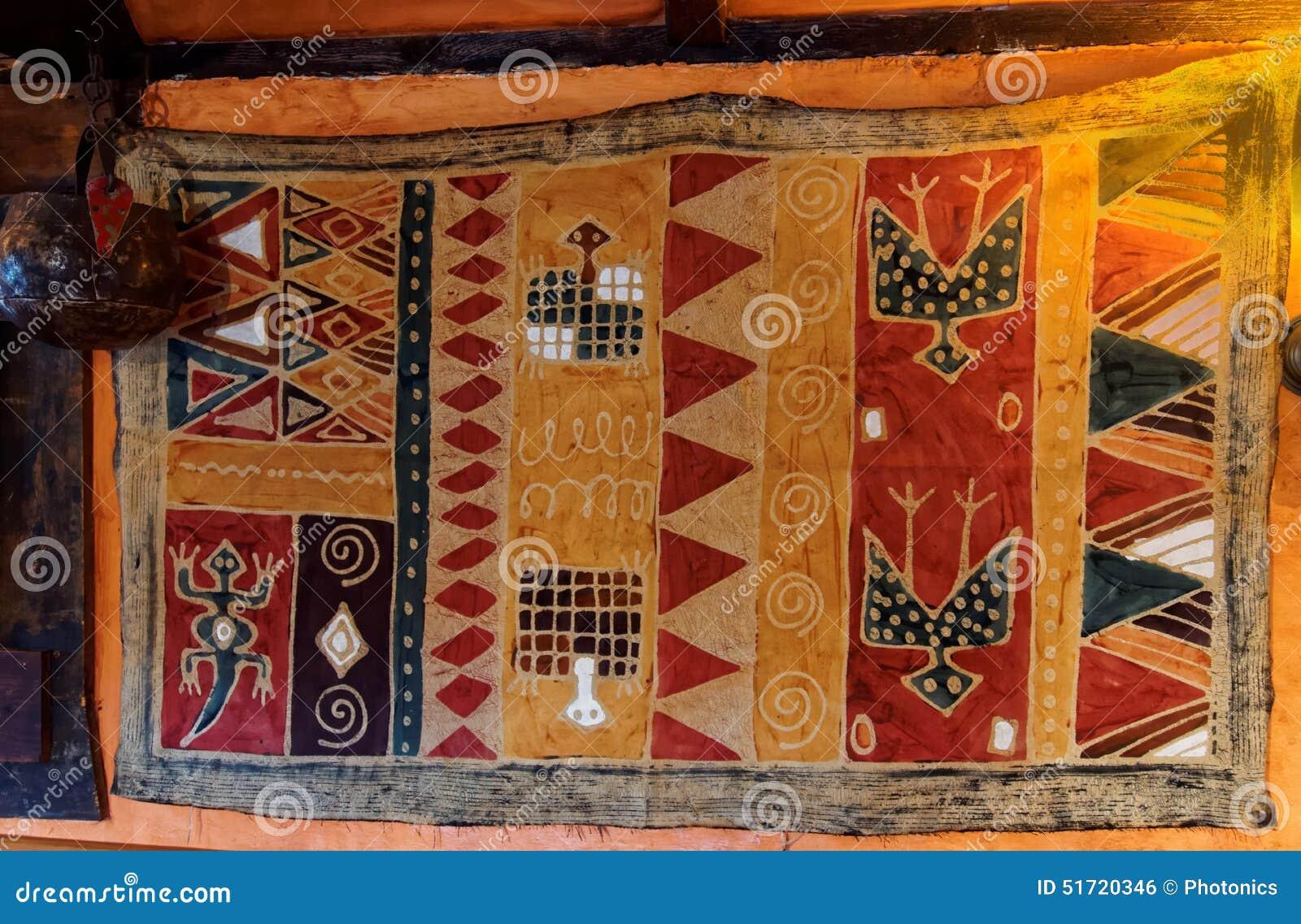 Aboriginal African Hut Rug ...