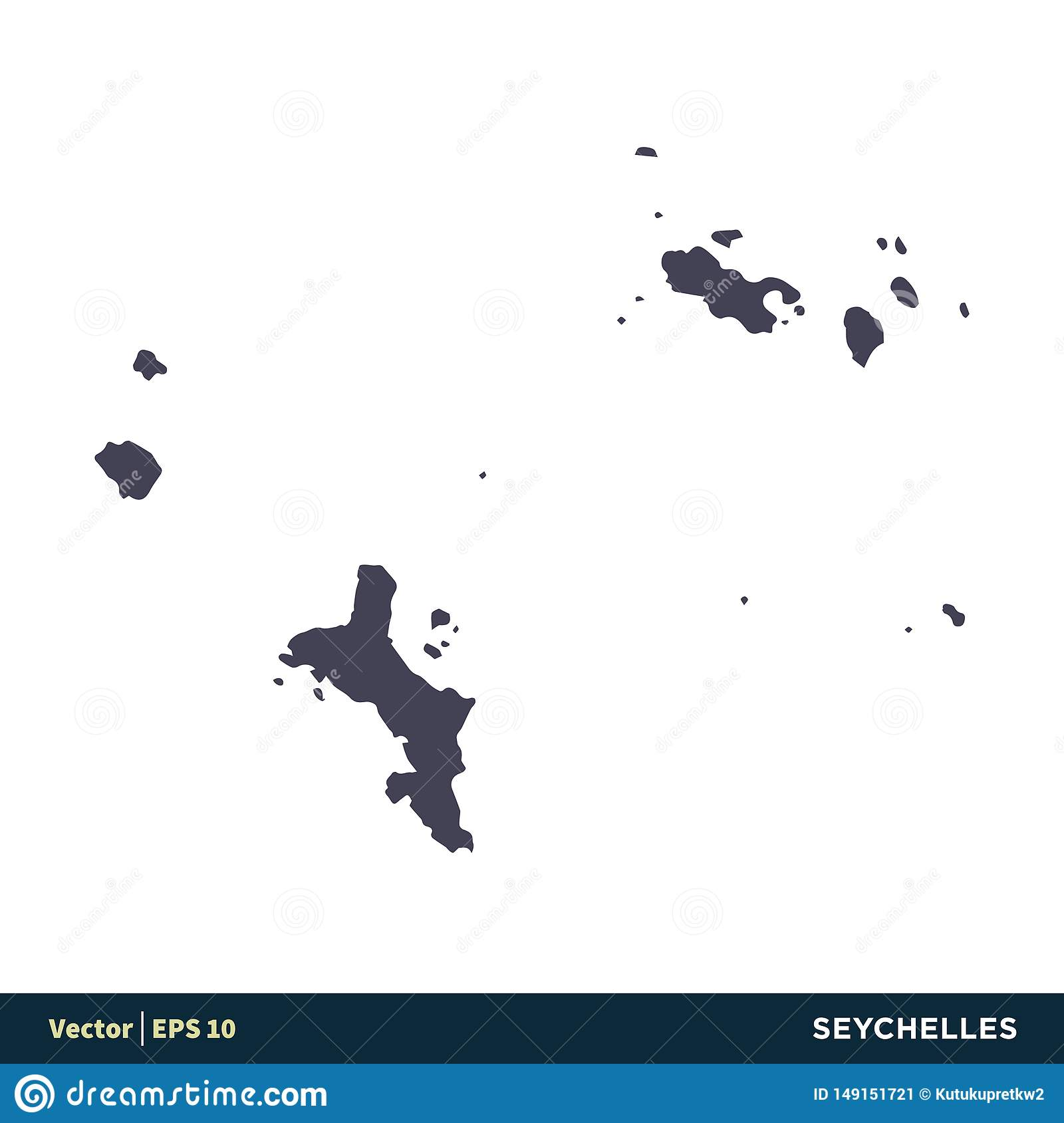 Seychelles - Africa Countries Map Icon Vector Logo Template Illustration Design. Vector EPS 10.