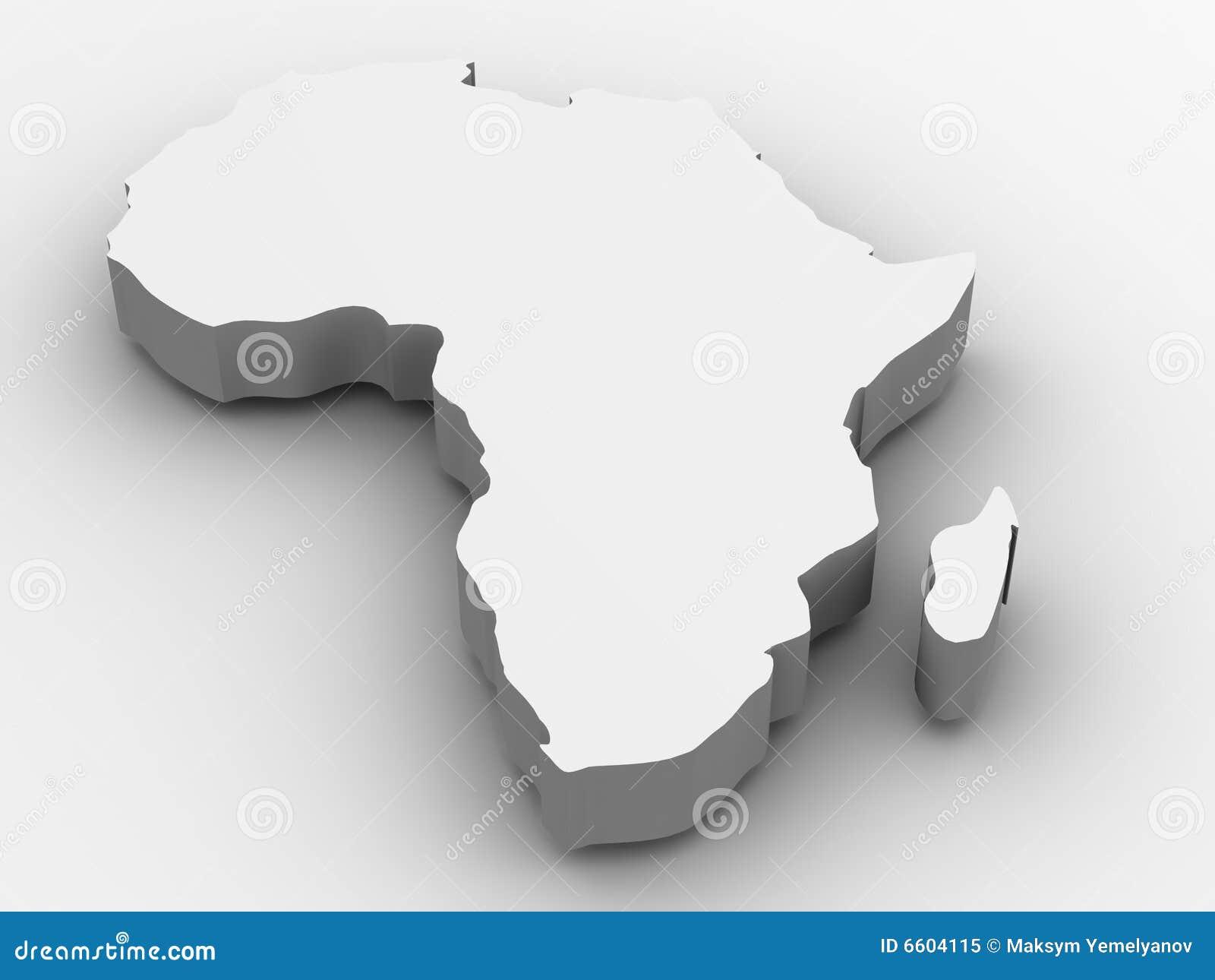 Africa. 3d stock illustration. Illustration of style, logo   6604115