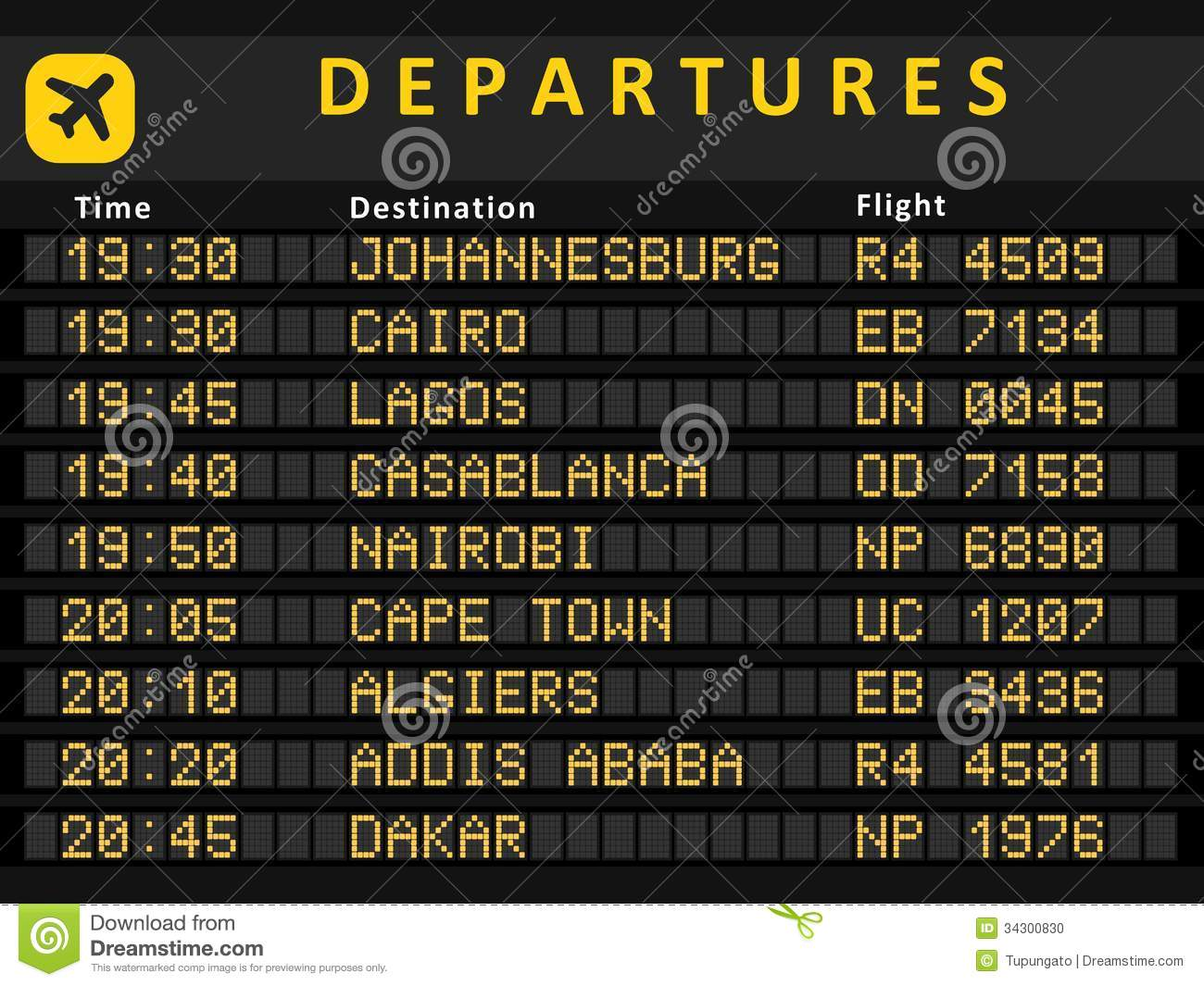 africa airports stock photo   image 34300830