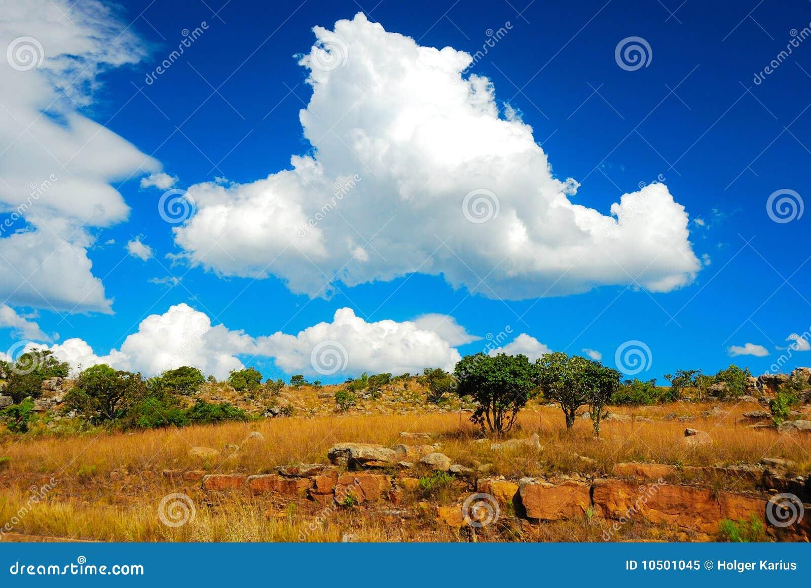Africa chmurnieje południe