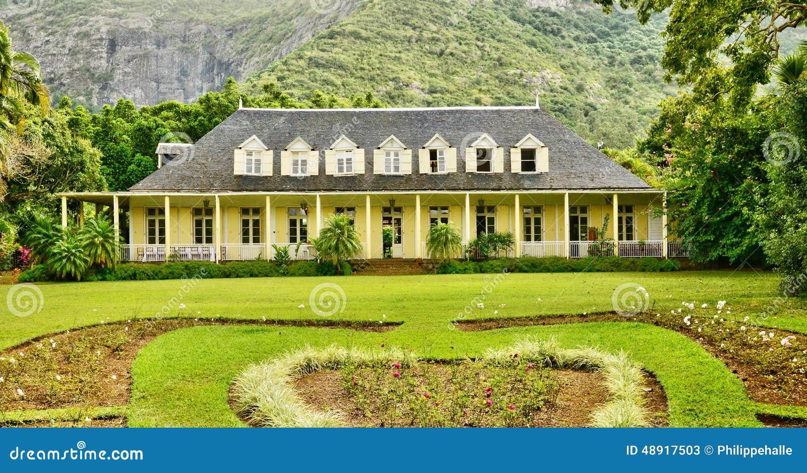 Africa Colonial Eureka House In Moka Editorial Stock