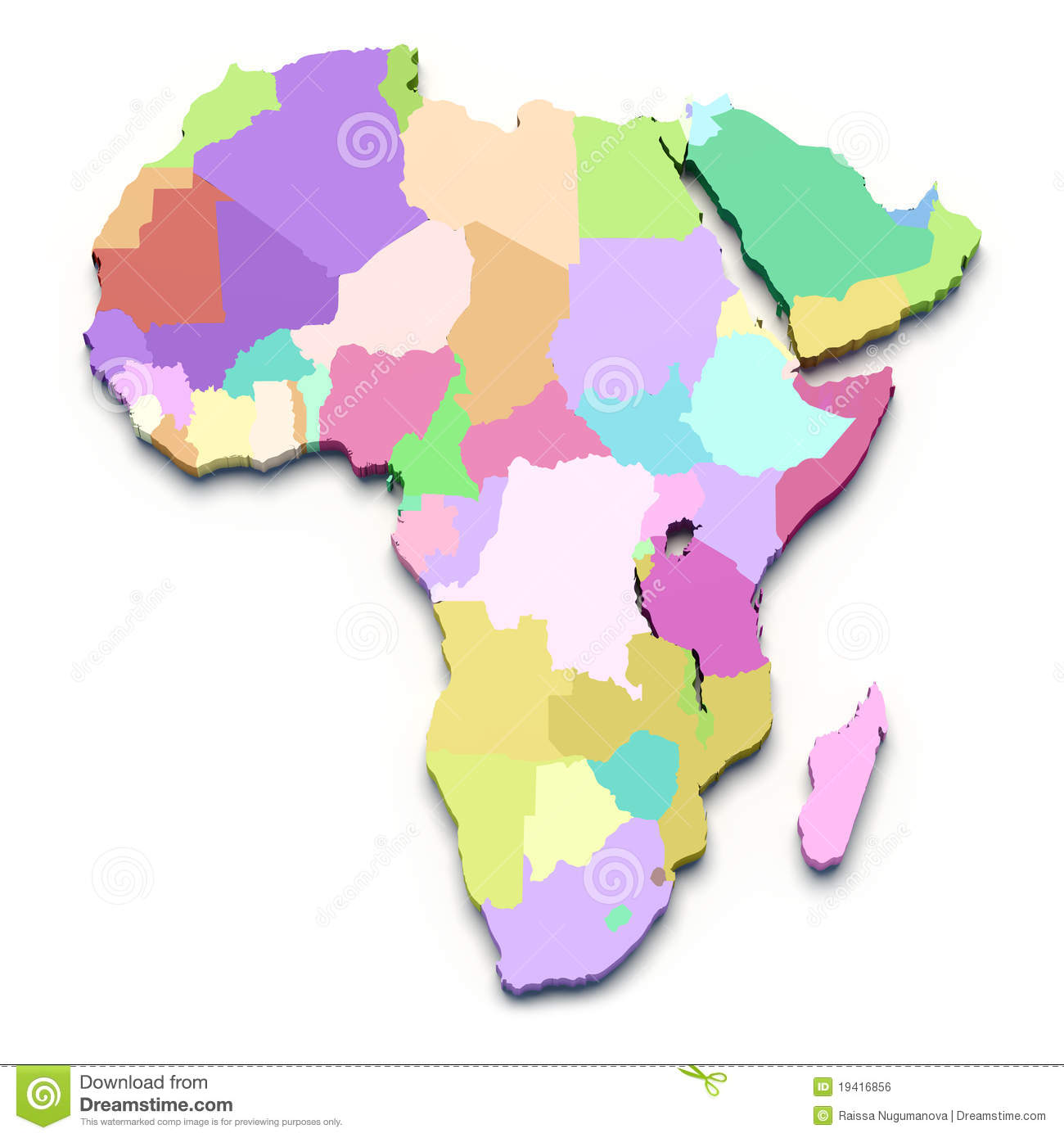 Africa Color Map Stock Illustration Illustration Of Arabia 19416856