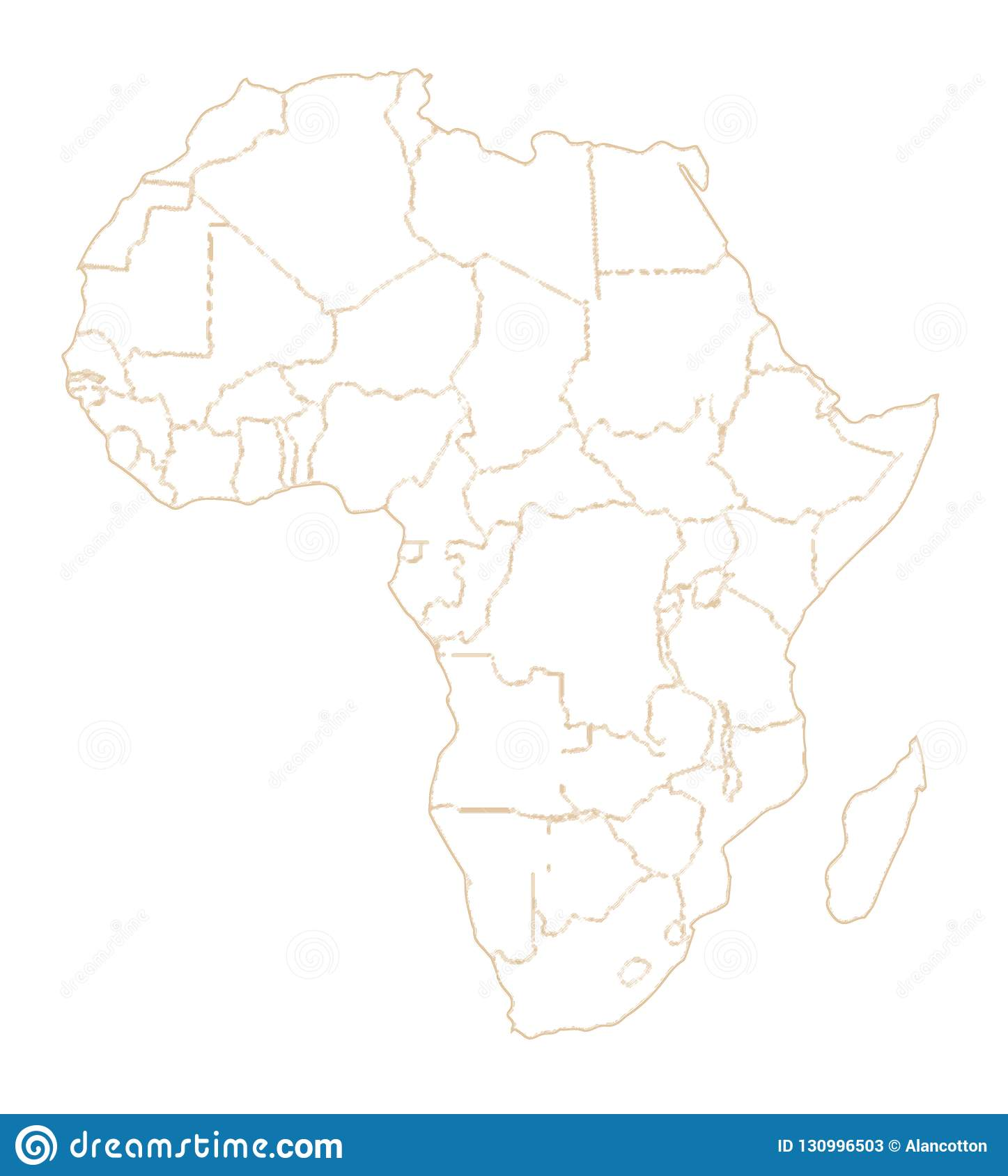 Picture of: Africa Country Outlines Stock Illustration Illustration Of African 130996503