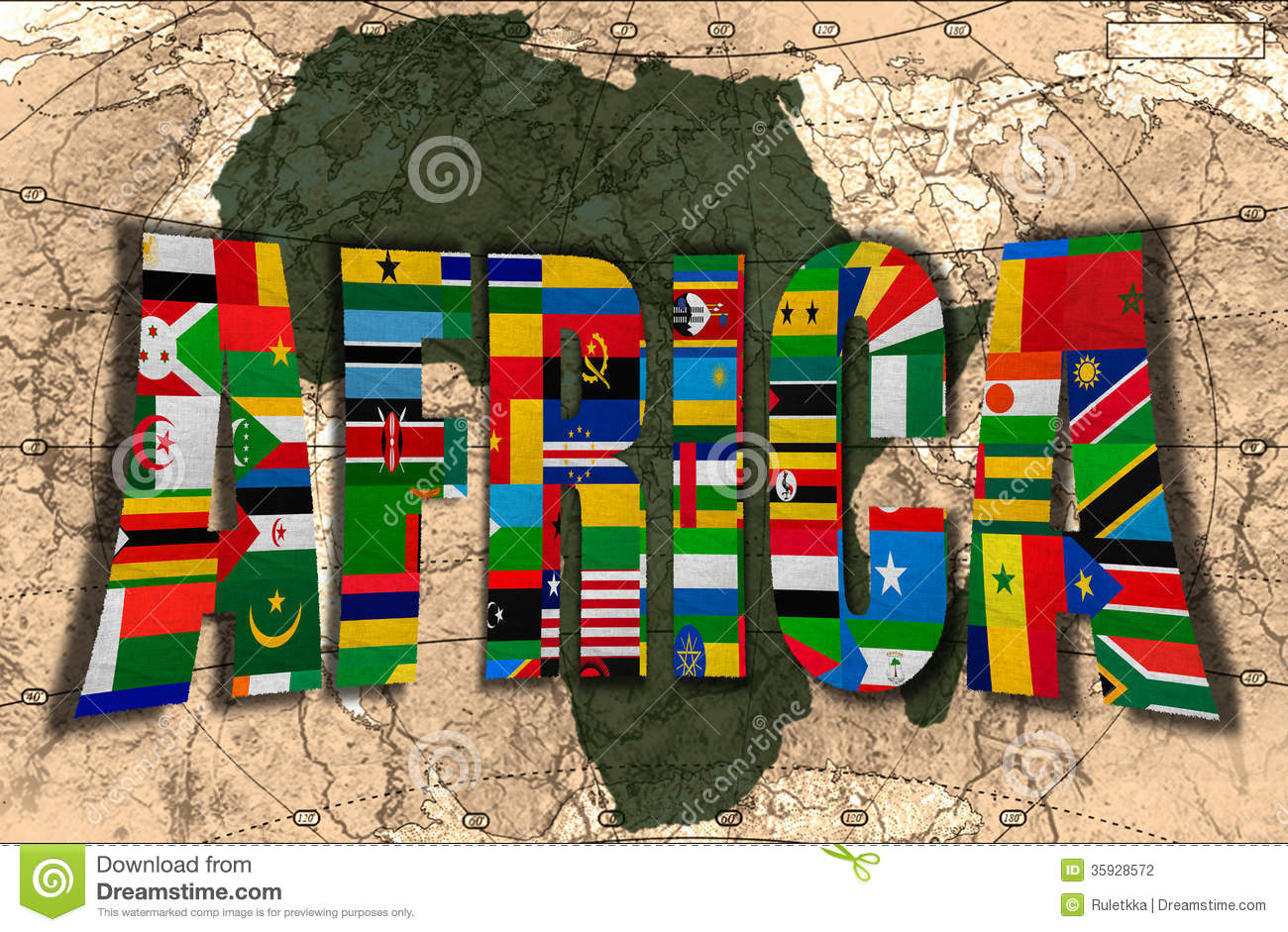 Africa The Dark Continent Stock Photography Image 35928572