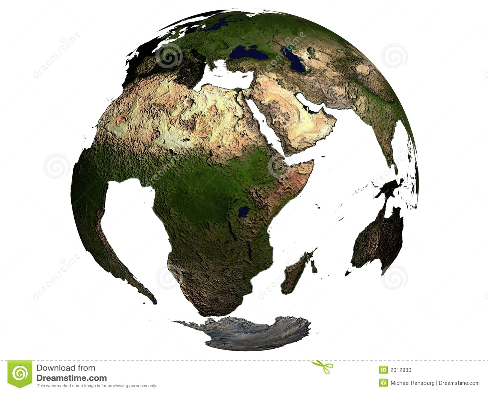 africa on an earth globe stock illustration illustration of