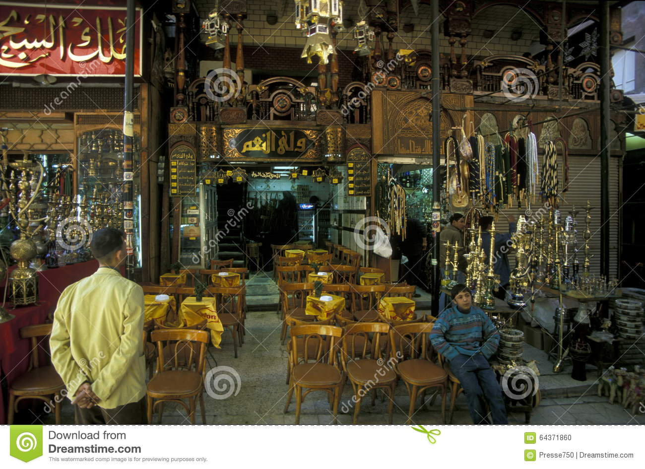 AFRICA EGYPT CAIRO OLD TOWN MARKET TEA HOUSE Editorial Image