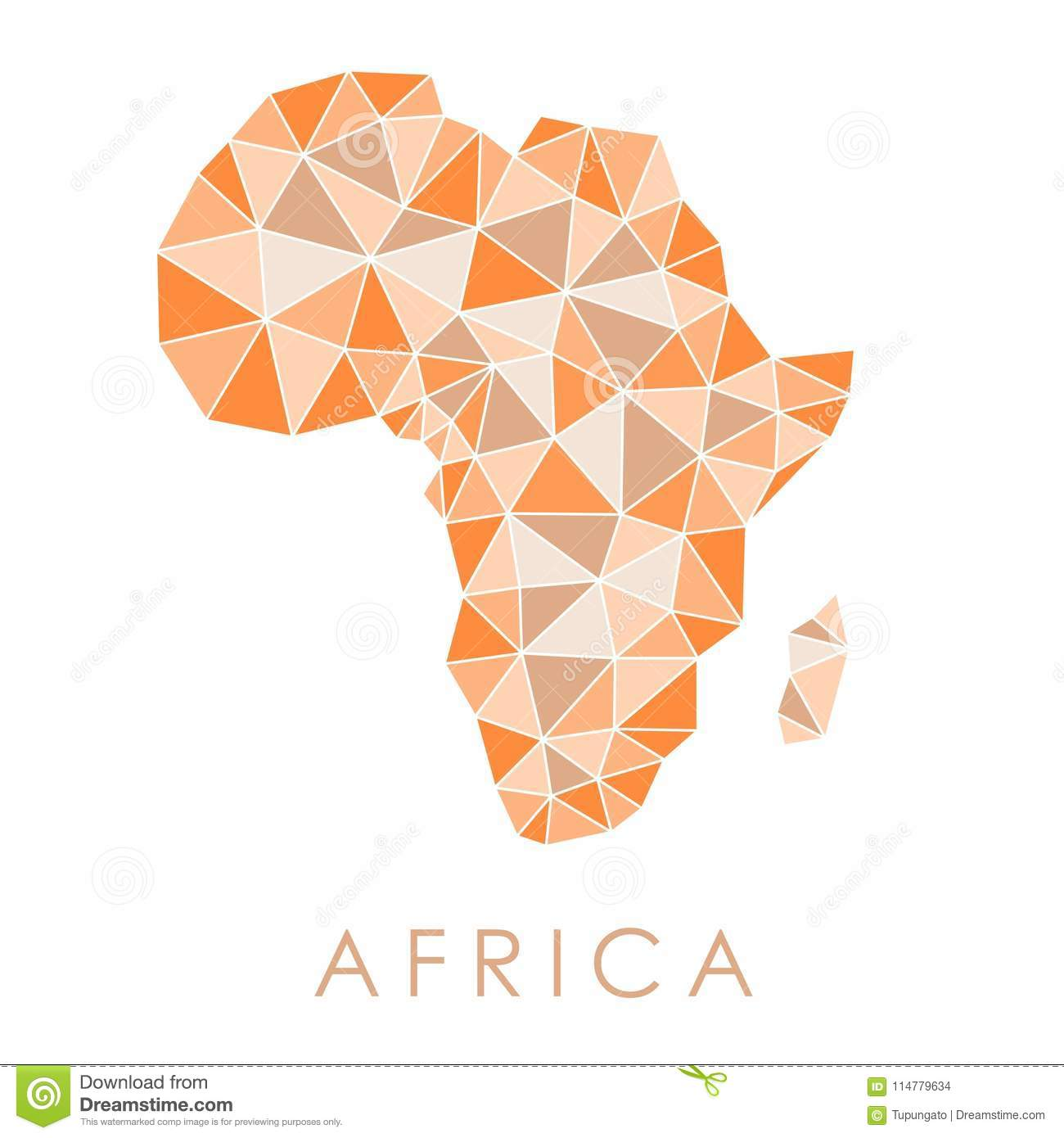 Africa triangles map stock vector. Illustration of geography - 114779634