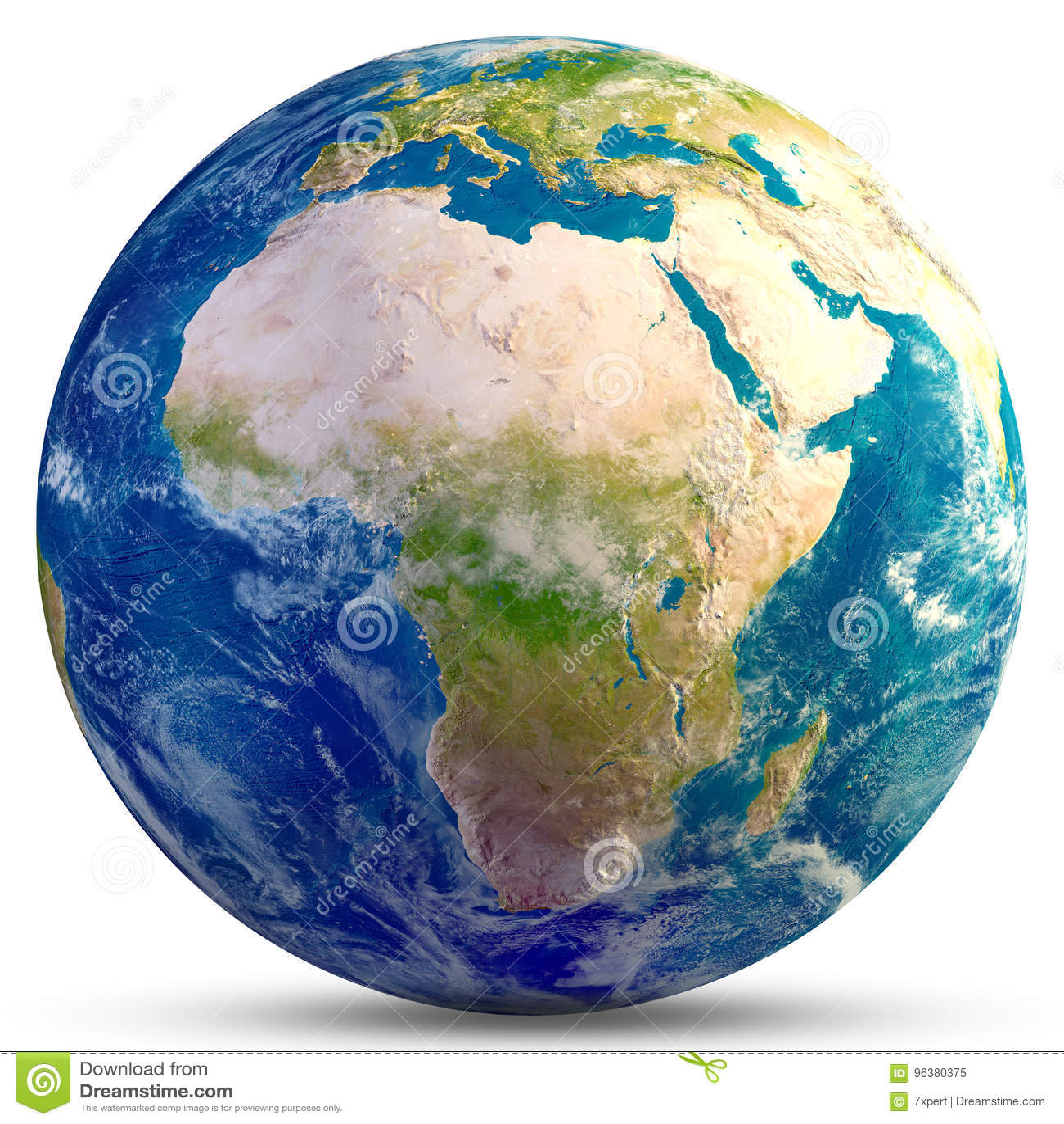 Africa jordplanet