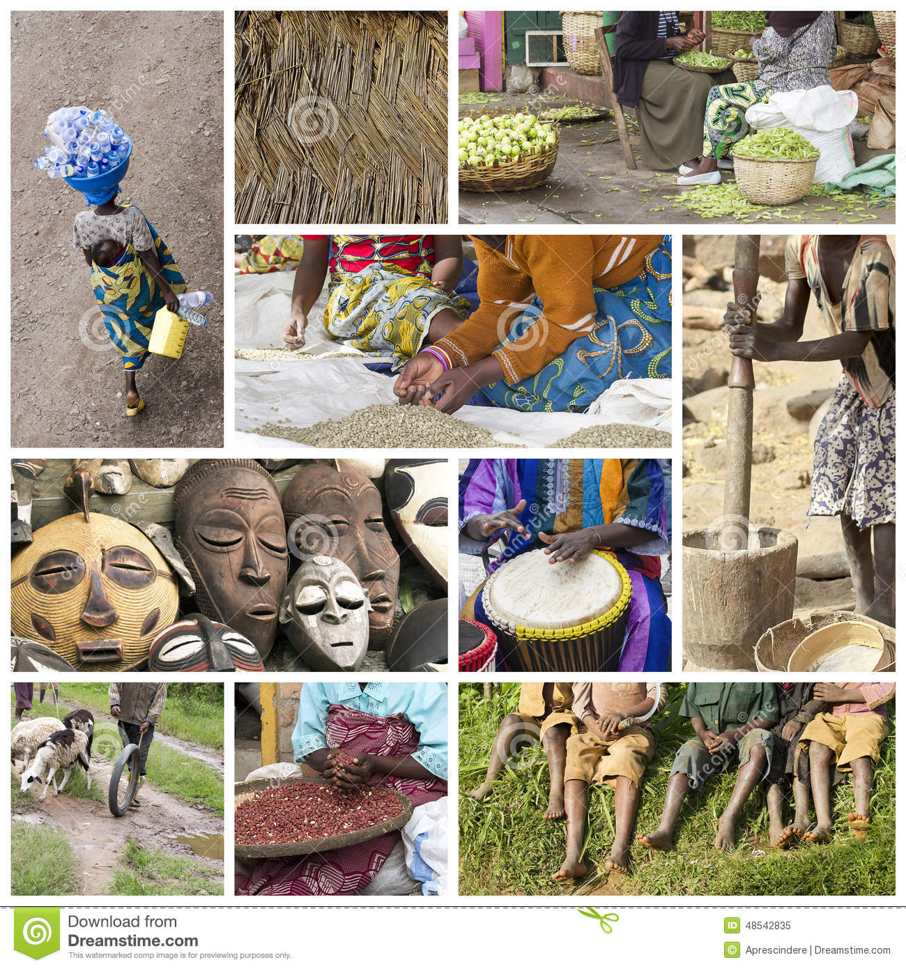 Download Africa life collage stock image. Image of colorful, cute - 48542835