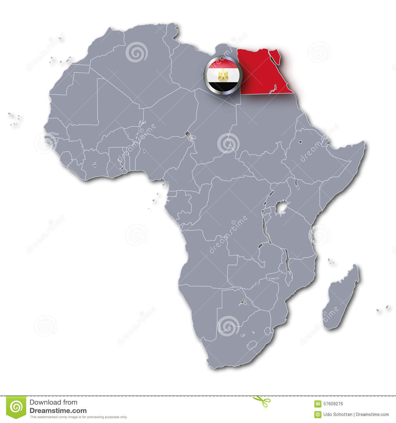 Africa Map With Egypt Stock Illustration Image - Map of egypt free download