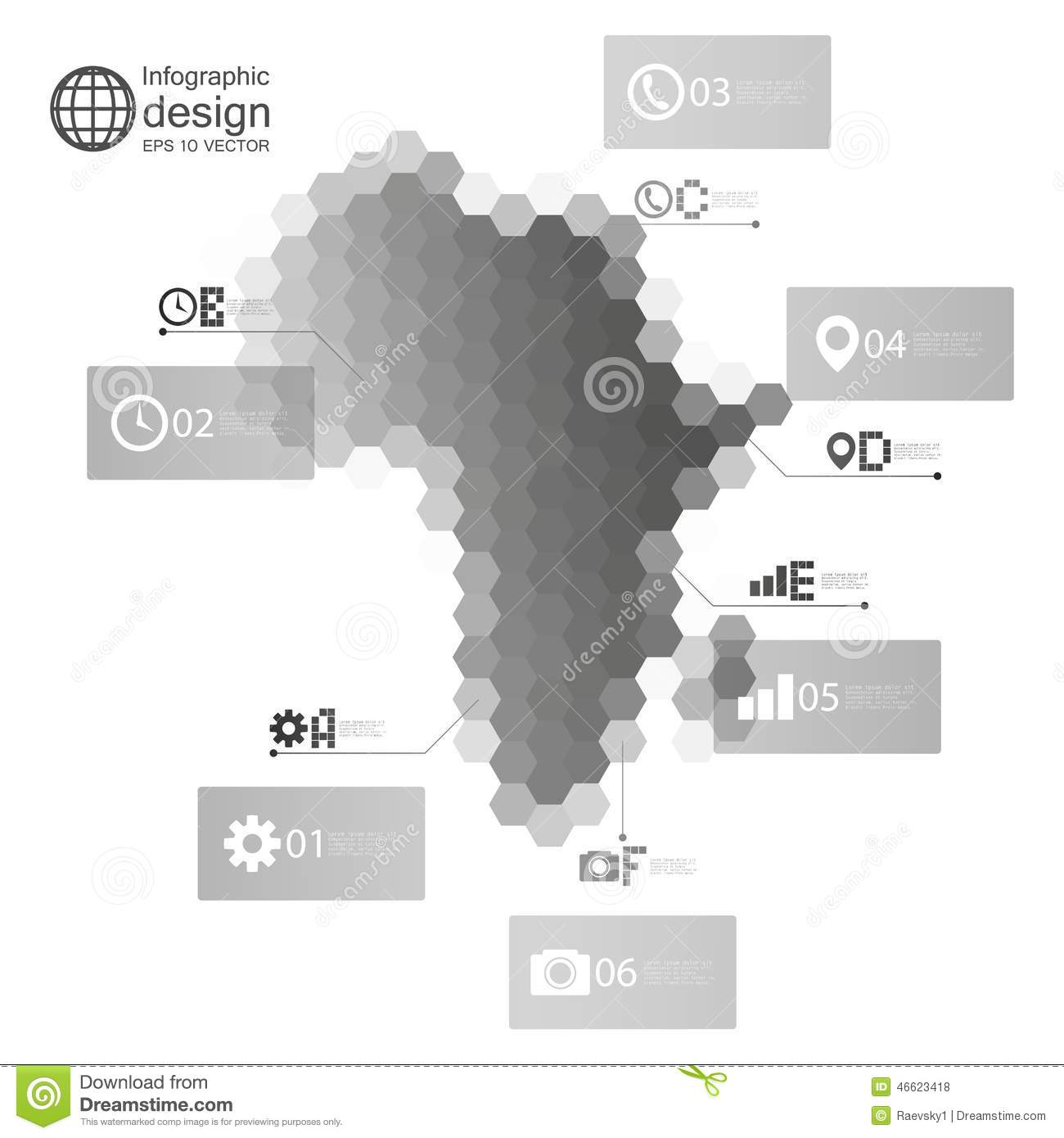 africa map infographic template for business stock vector