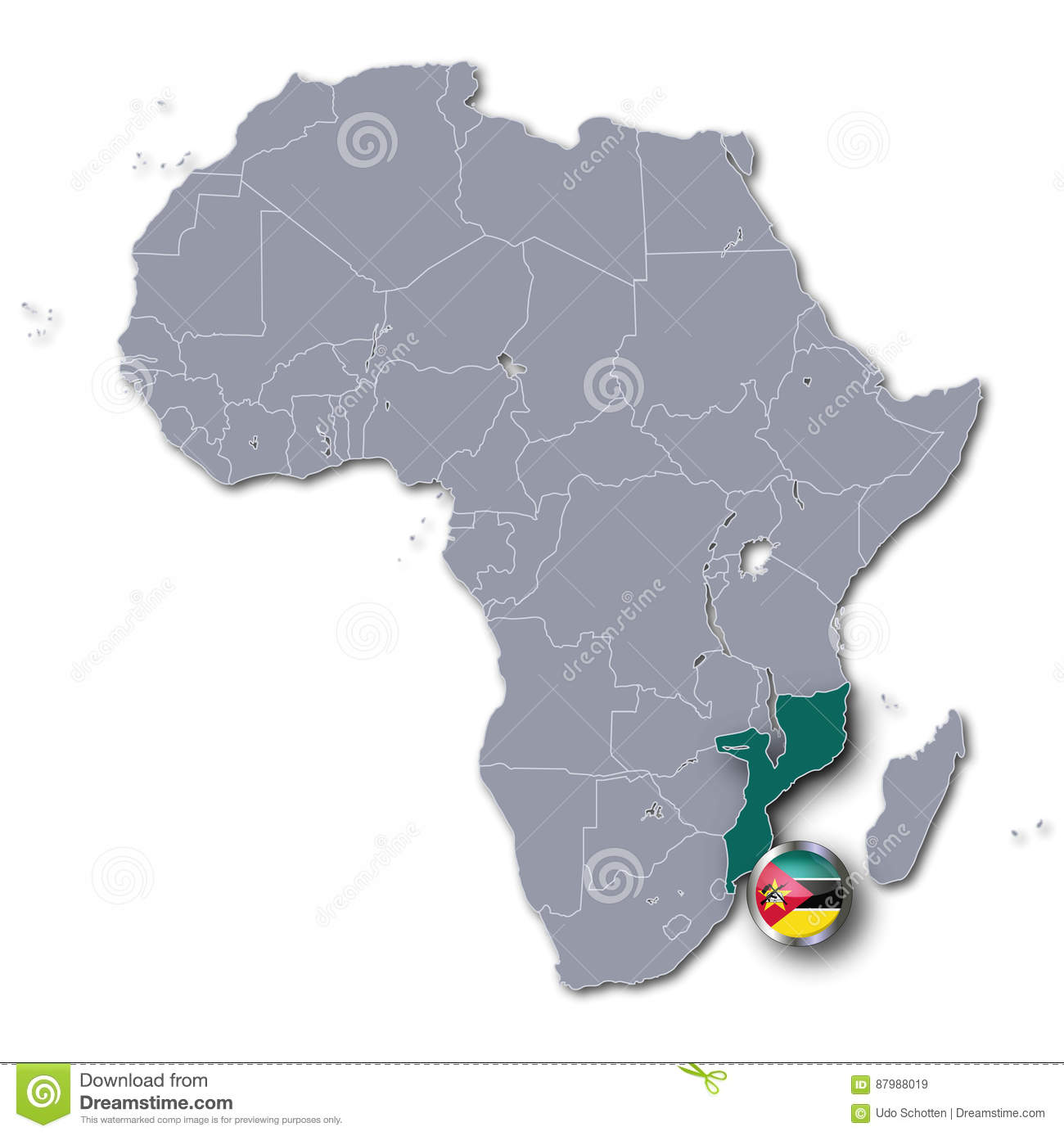 Africa map with mozambique stock illustration illustration of icon download africa map with mozambique stock illustration illustration of icon 87988019 gumiabroncs Images