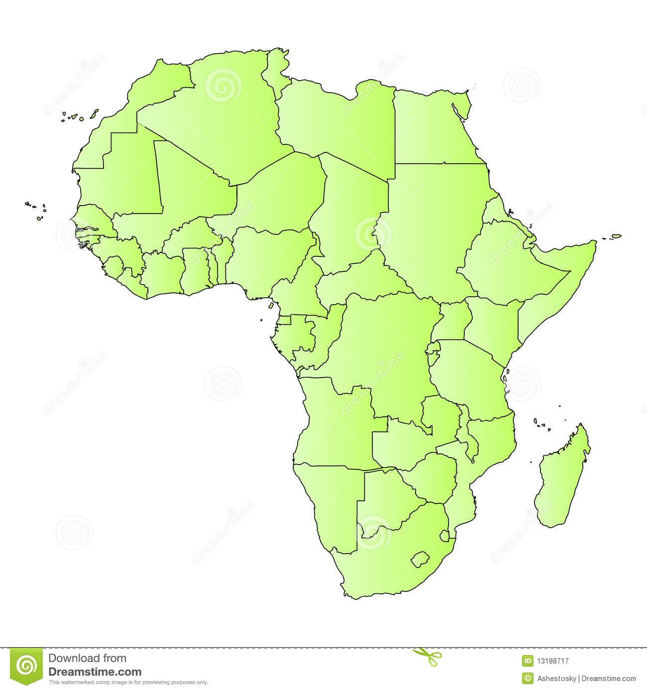 africa map outline of states image