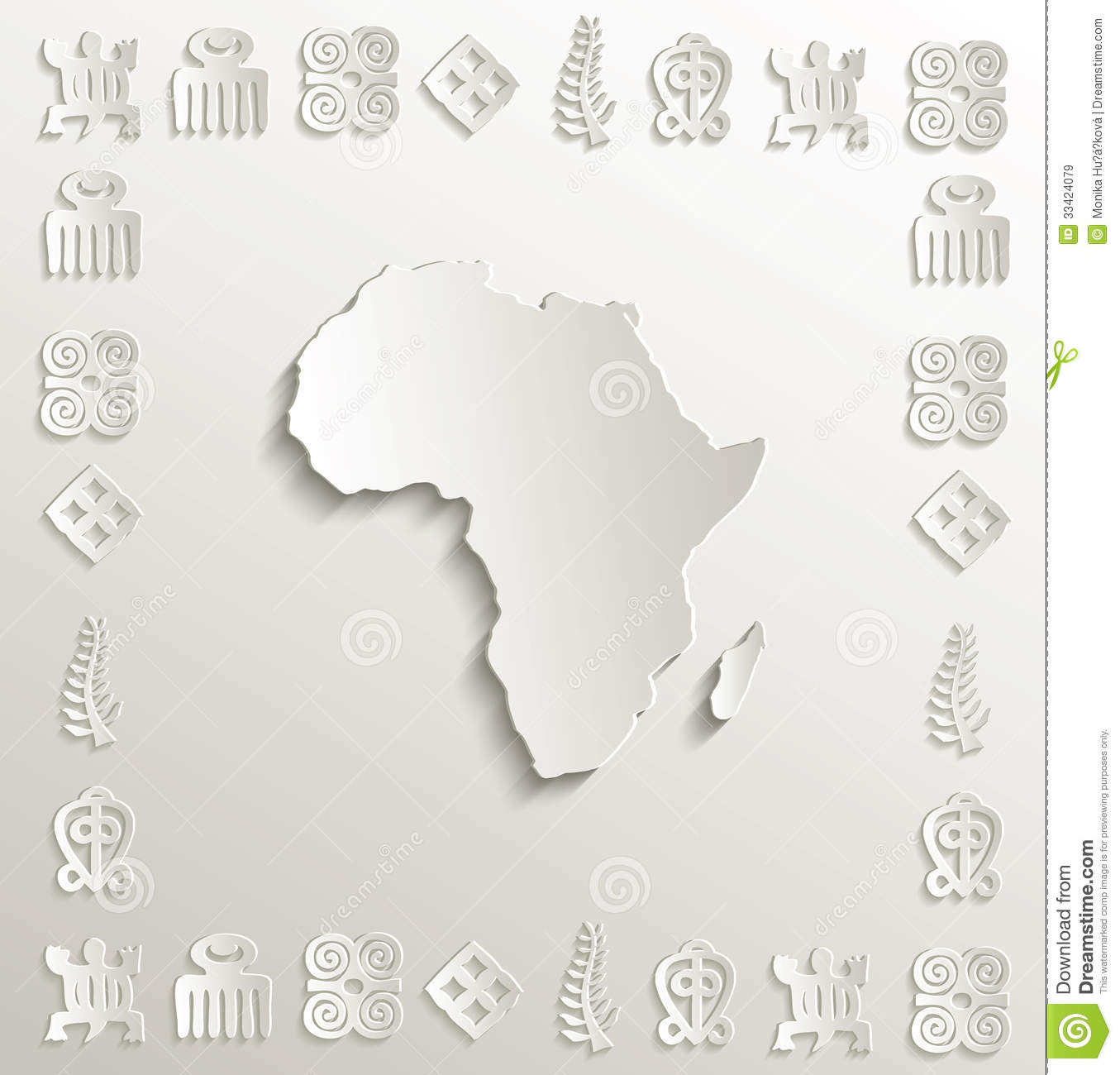 africa map photo frame