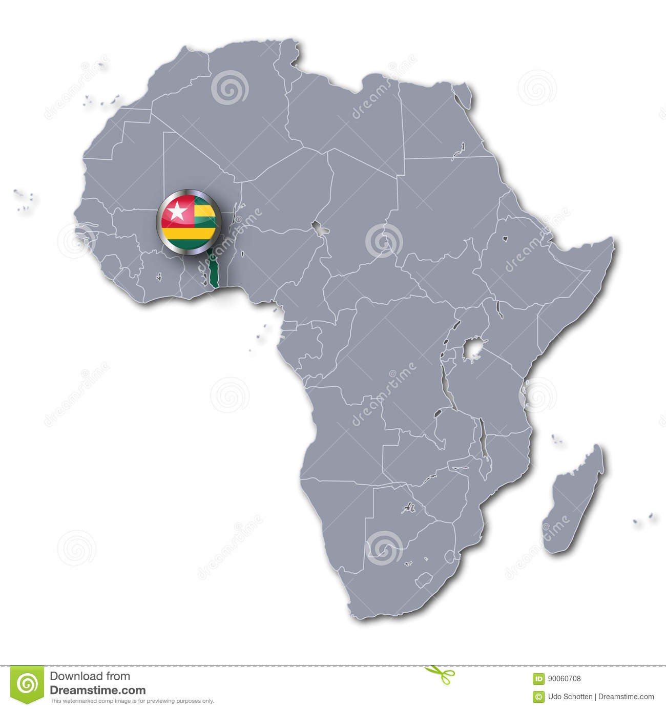 Africa map and togo stock illustration illustration of german download africa map and togo stock illustration illustration of german 90060708 gumiabroncs Images