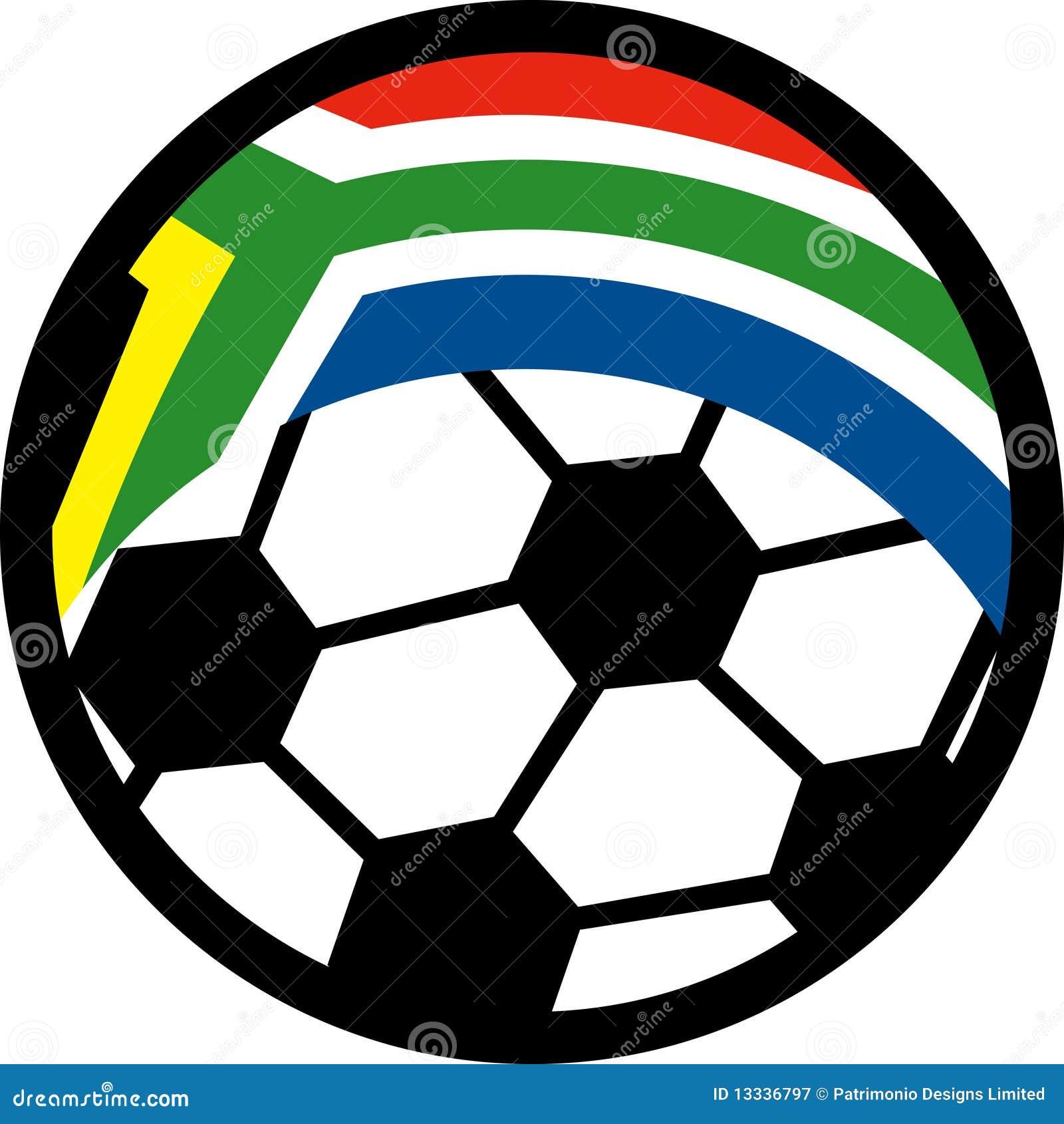 Africa piłki flaga piłki nożnej południe