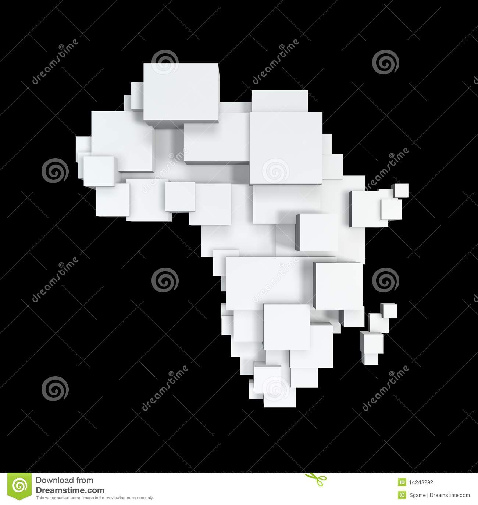 Africa pudełka mapa