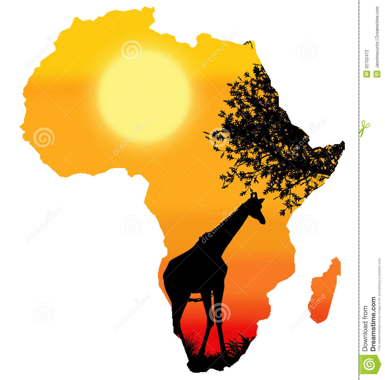 Africa Clipart Africa / safari silhouette: galleryhip.com/africa-clipart.html