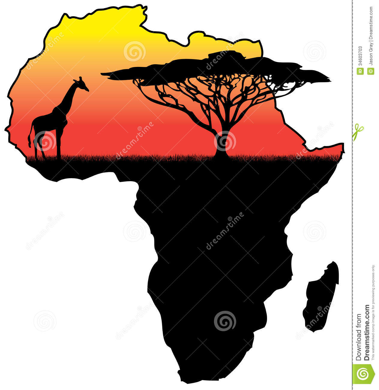 Africa silhouette stock illustration. Image of kenya ...