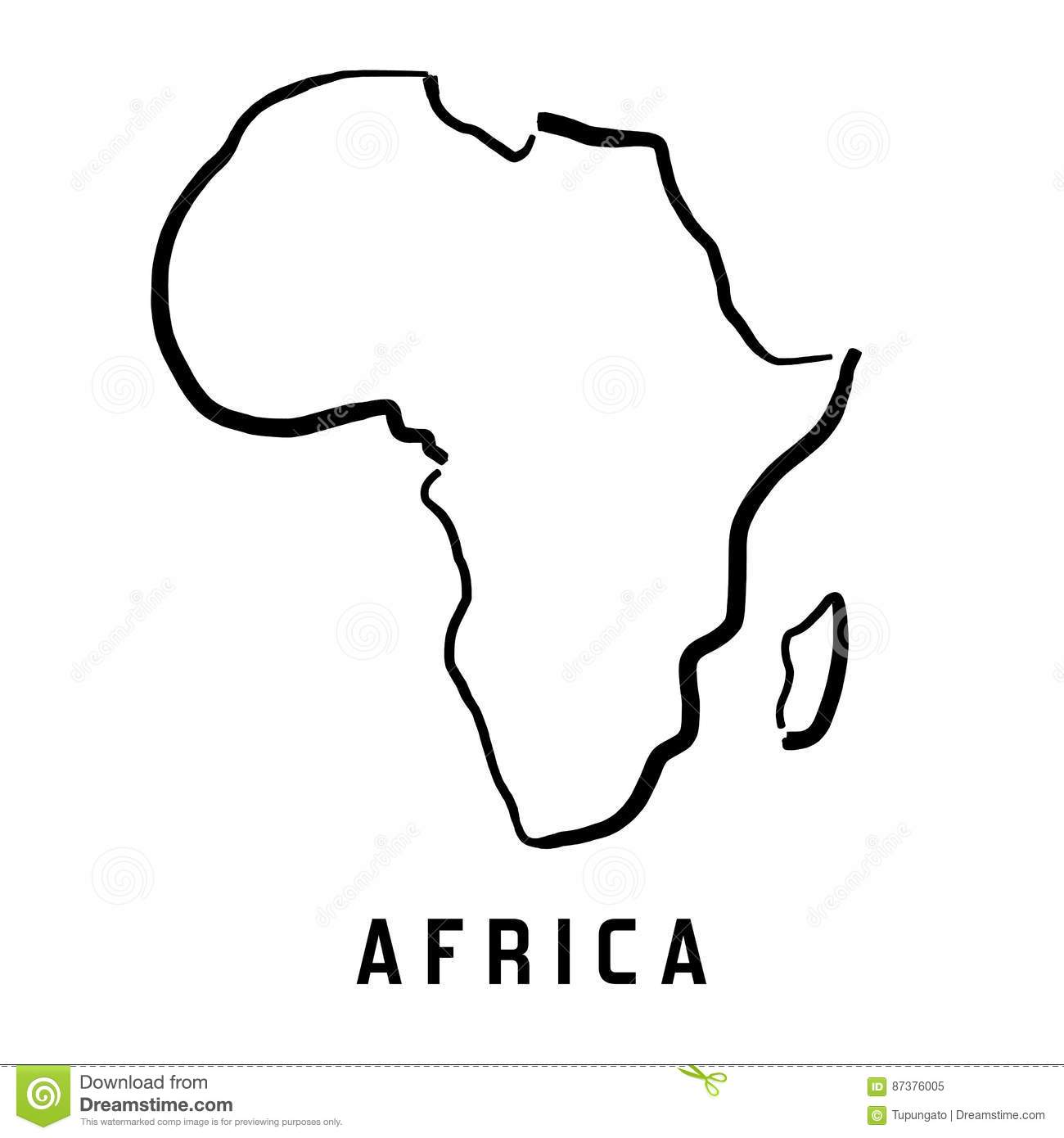 Africa Simple Map Stock Vector Illustration Of Concept 87376005
