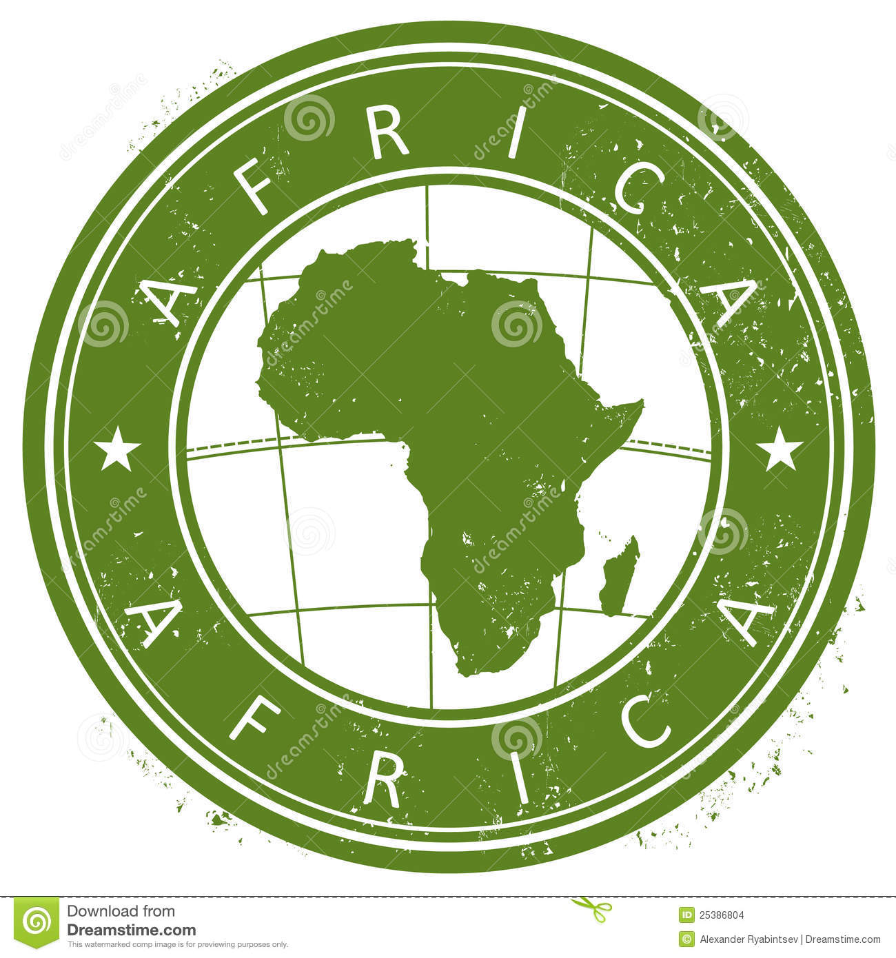 Africa Stamp Stock Illustration Image Of Certificate
