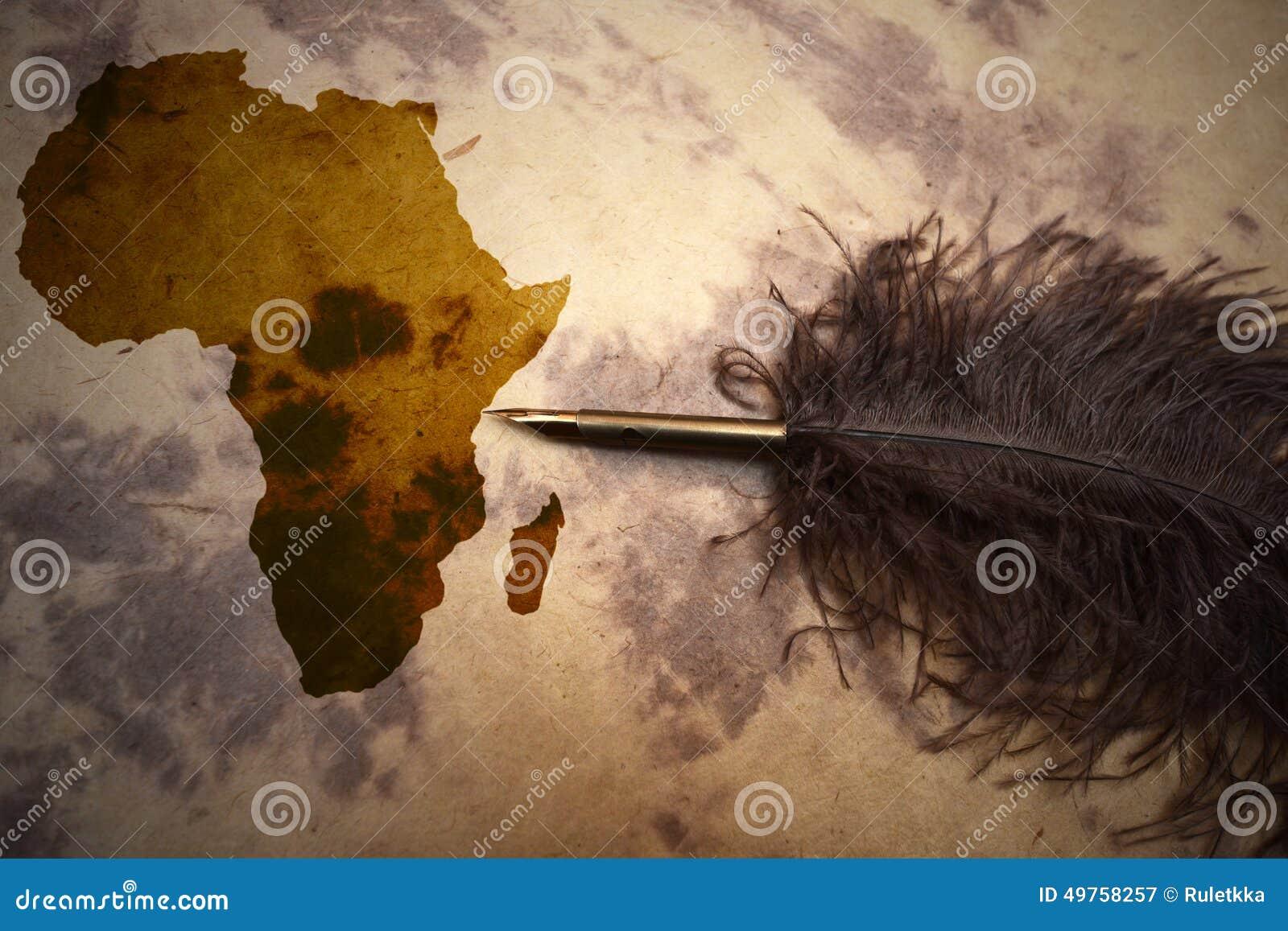 Africa   terra incognita stock image. Image of east, antique