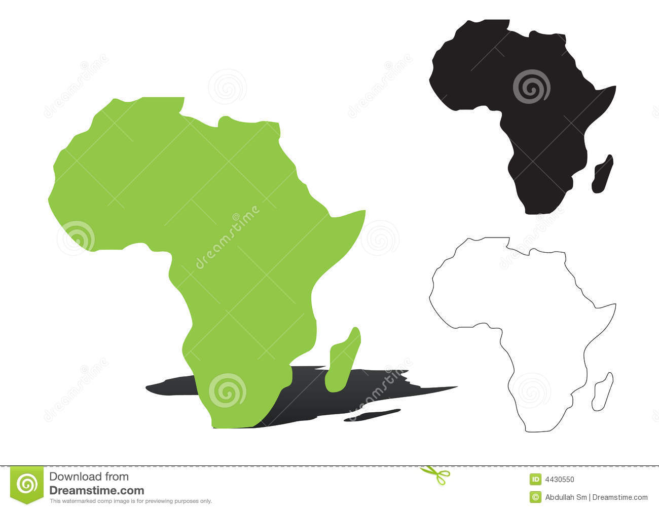 Africa vector stock vector Image of